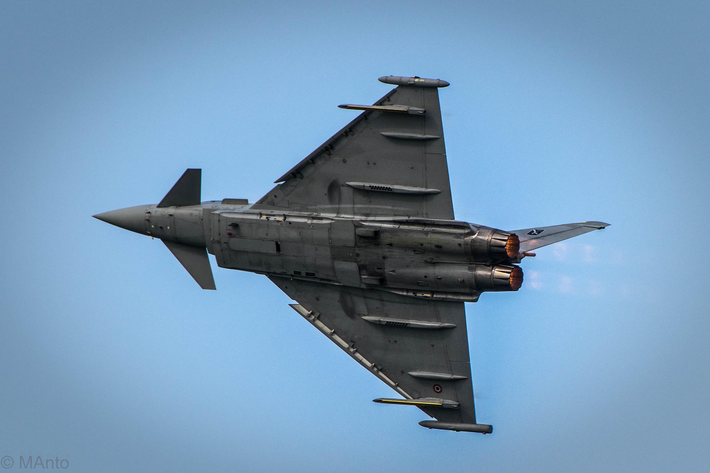 The Eurofighter typhoon flight...
