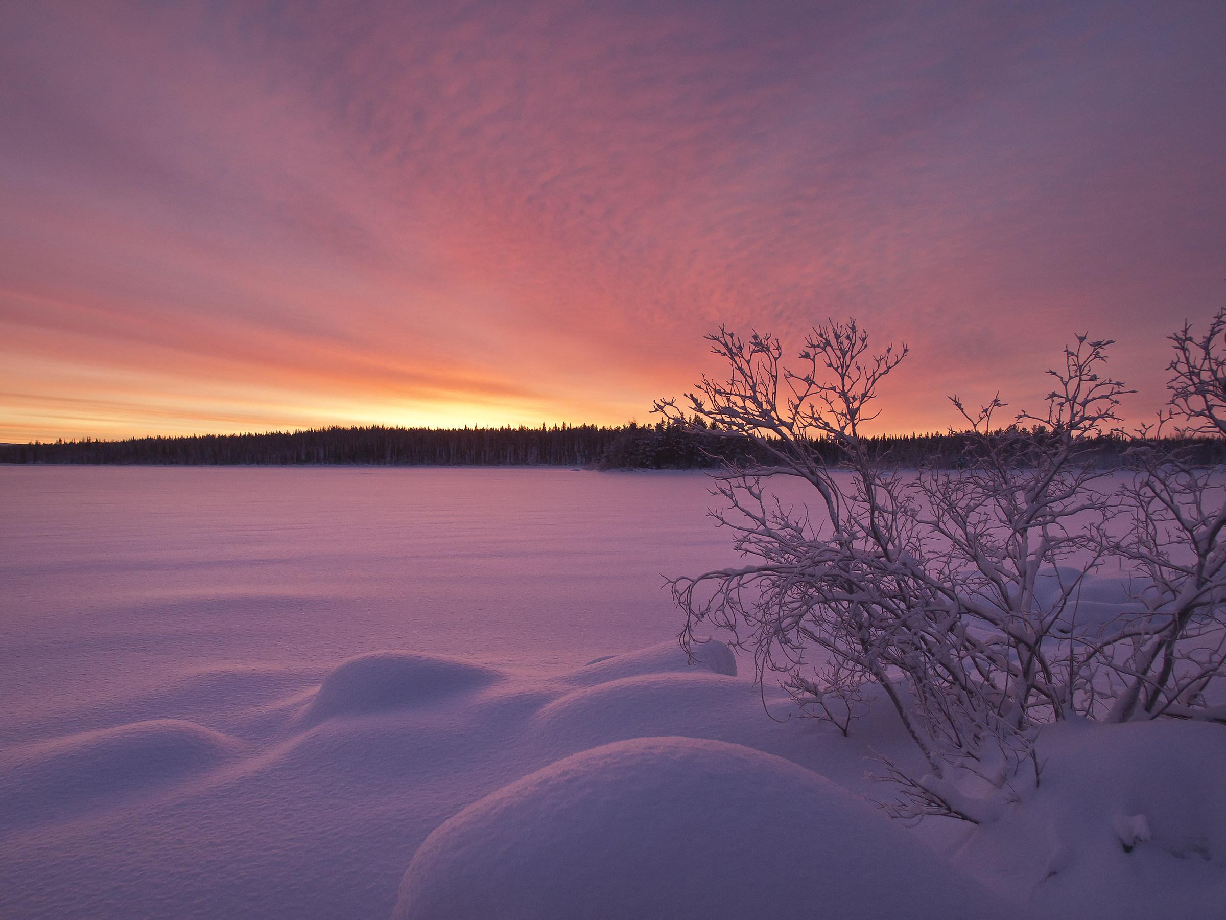 Northern Finland landscape...