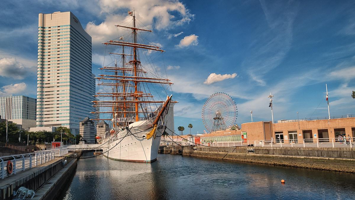 Yokohama - sail training boat nippon maru...