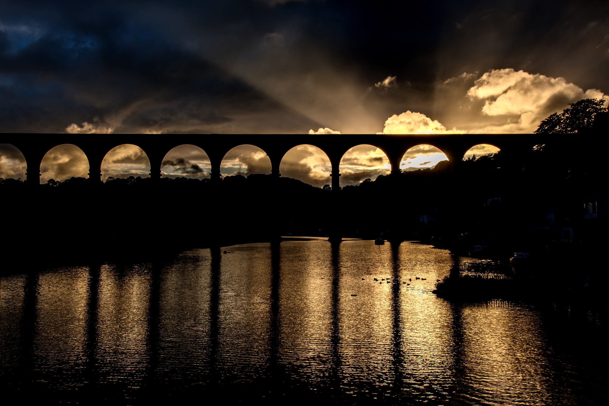 Sun Setting Behind The Viaduct...