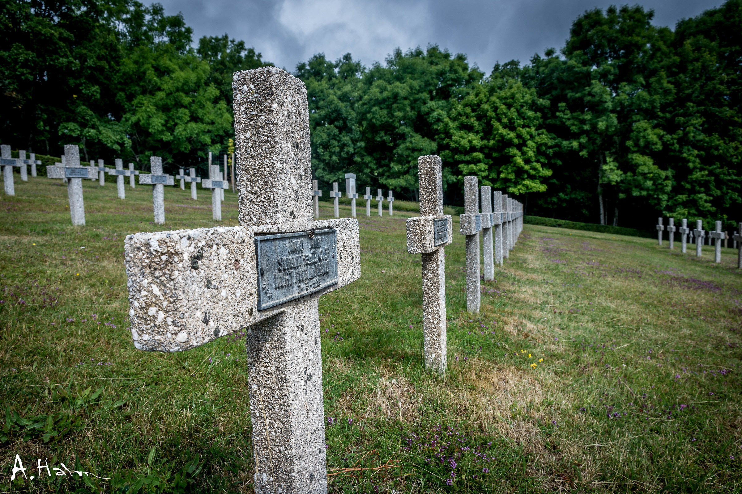 French World War 1 Cementary at Hartmannswilerskopf...