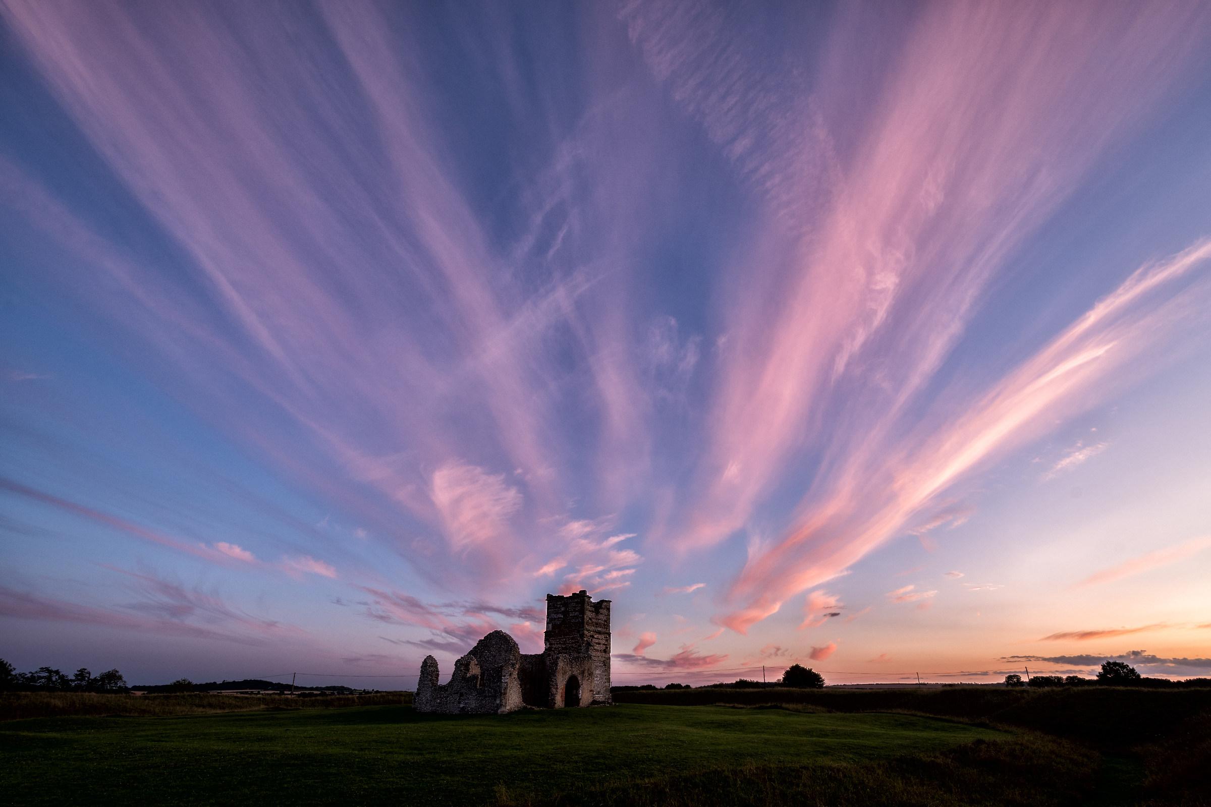 Tonight's Sunset Over Knowlton Church...
