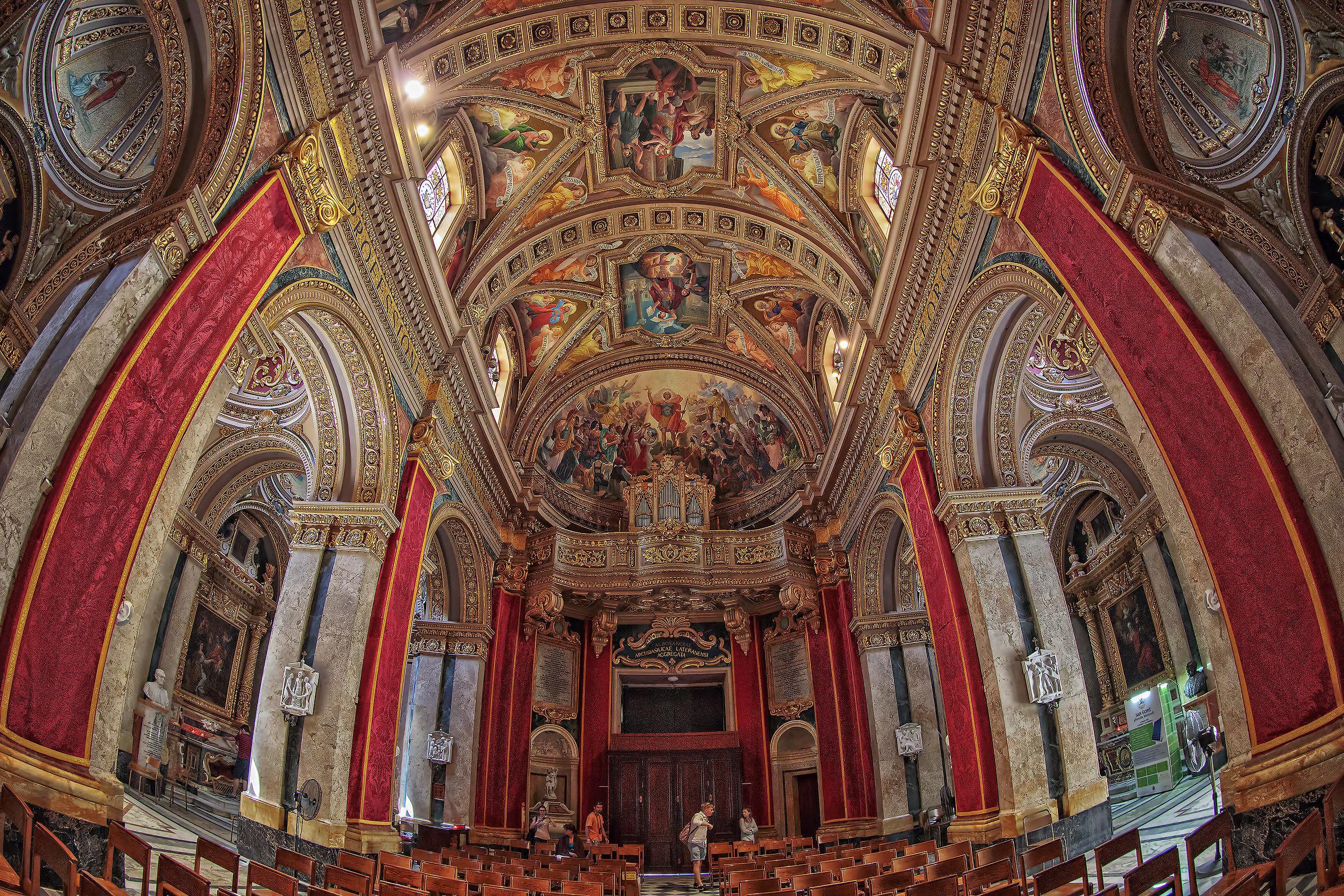 Navata church San Giorgio island of Gozo (Malta)...