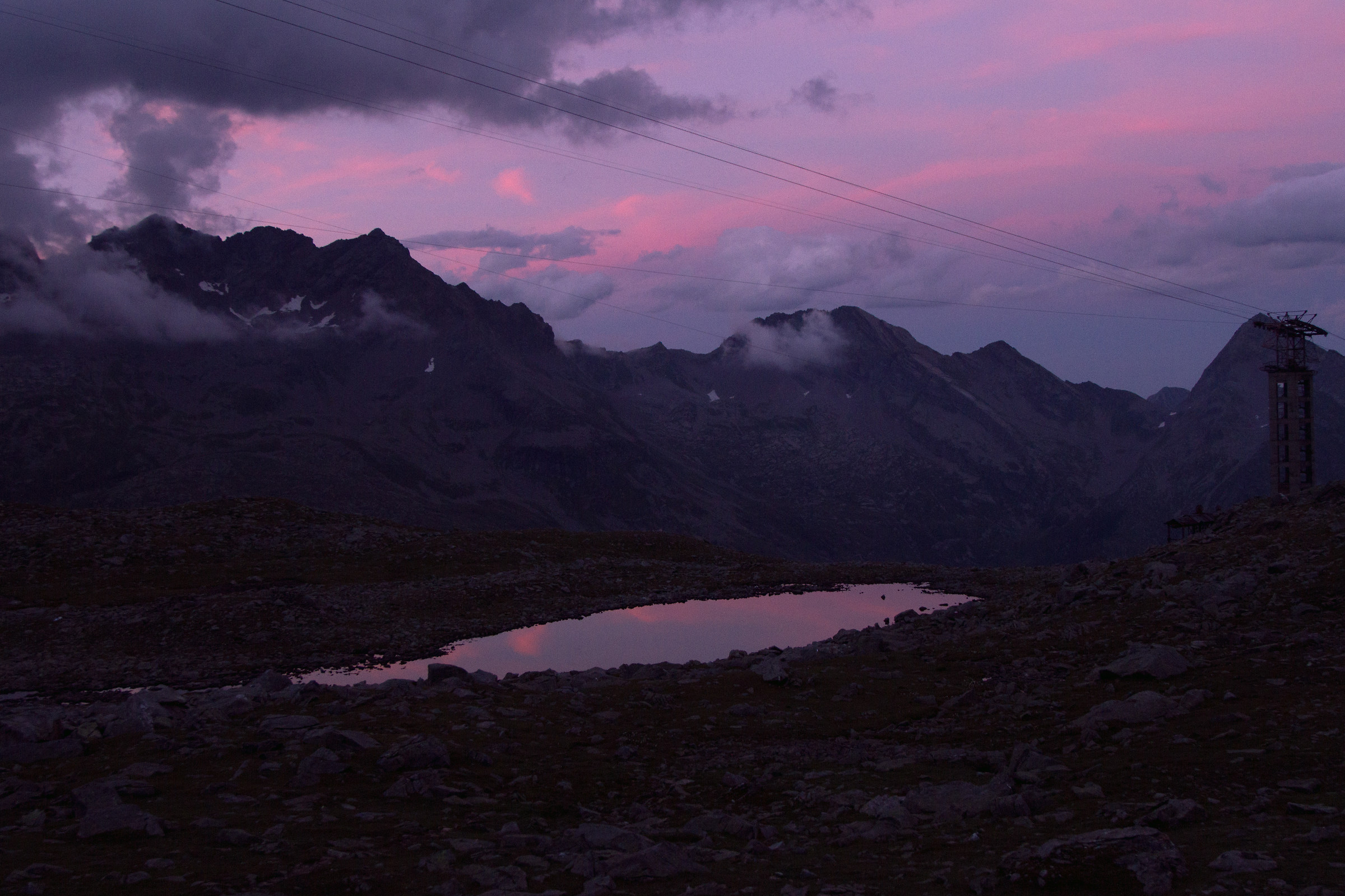 Sunset at the Val d'Aosta-Piemonte border ??...