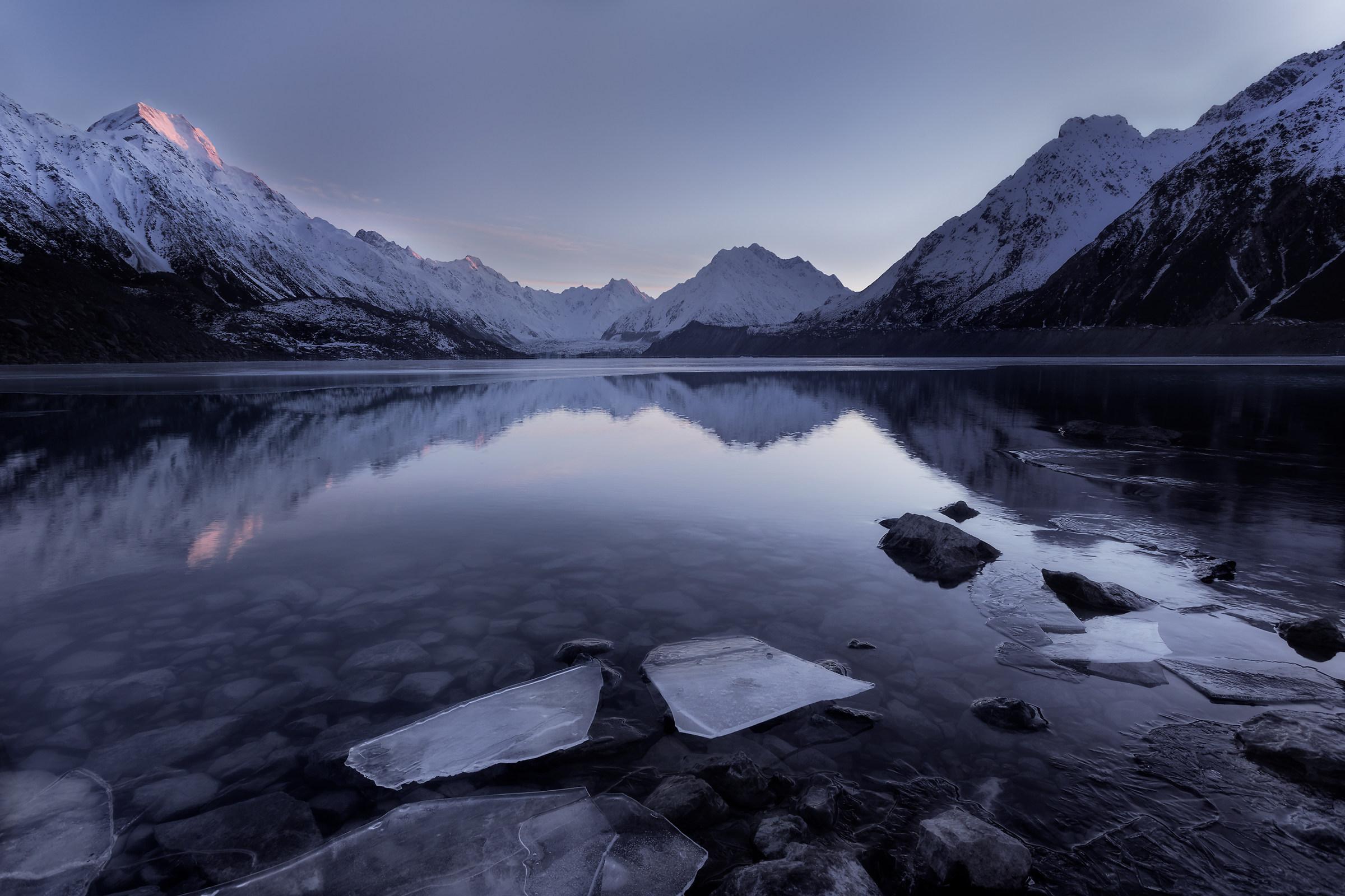 Tasman Glacier...