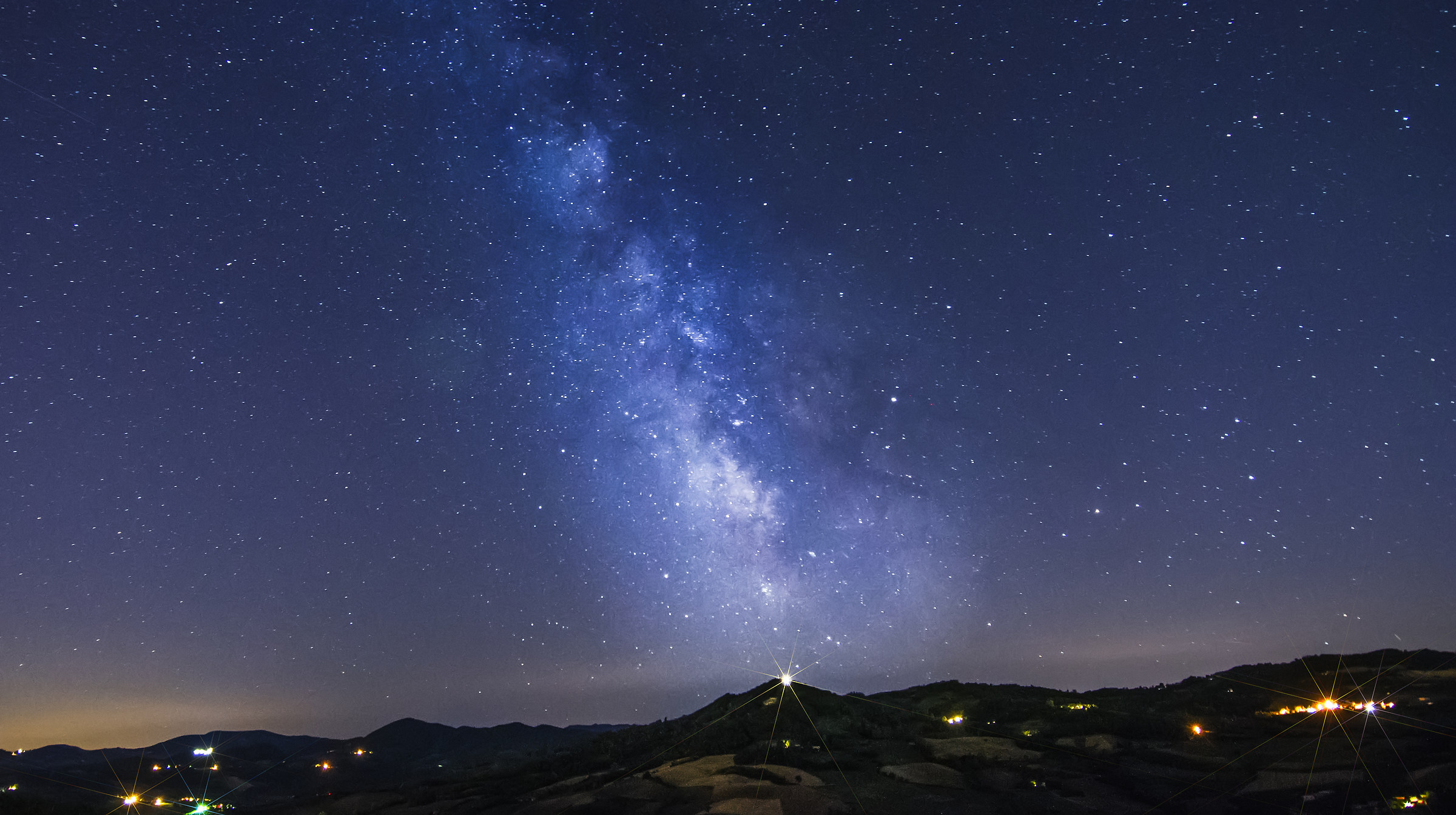 The Milky Way above Madonna del Monte...