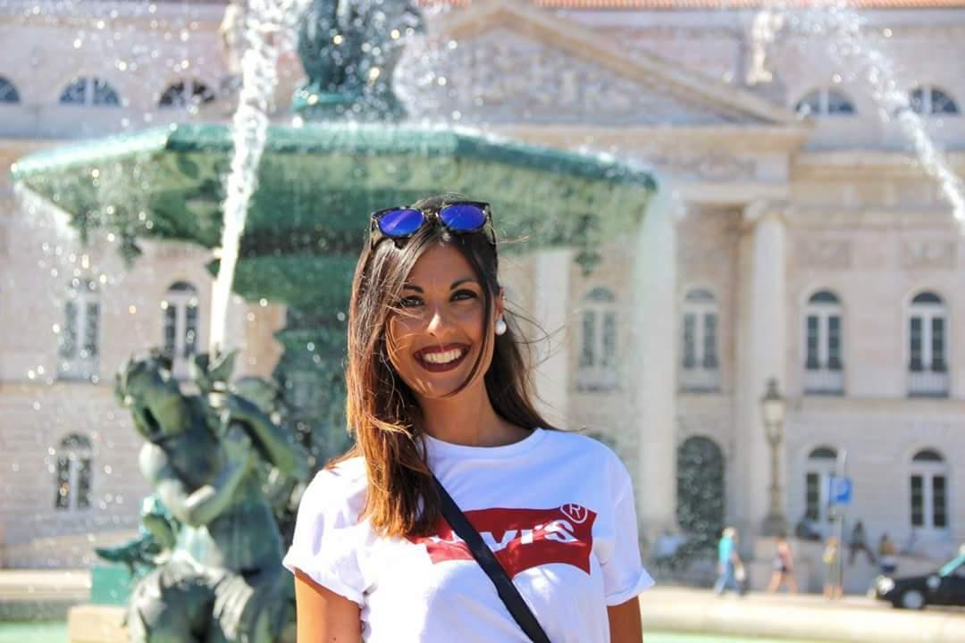 Happiness in Praça Rossio...