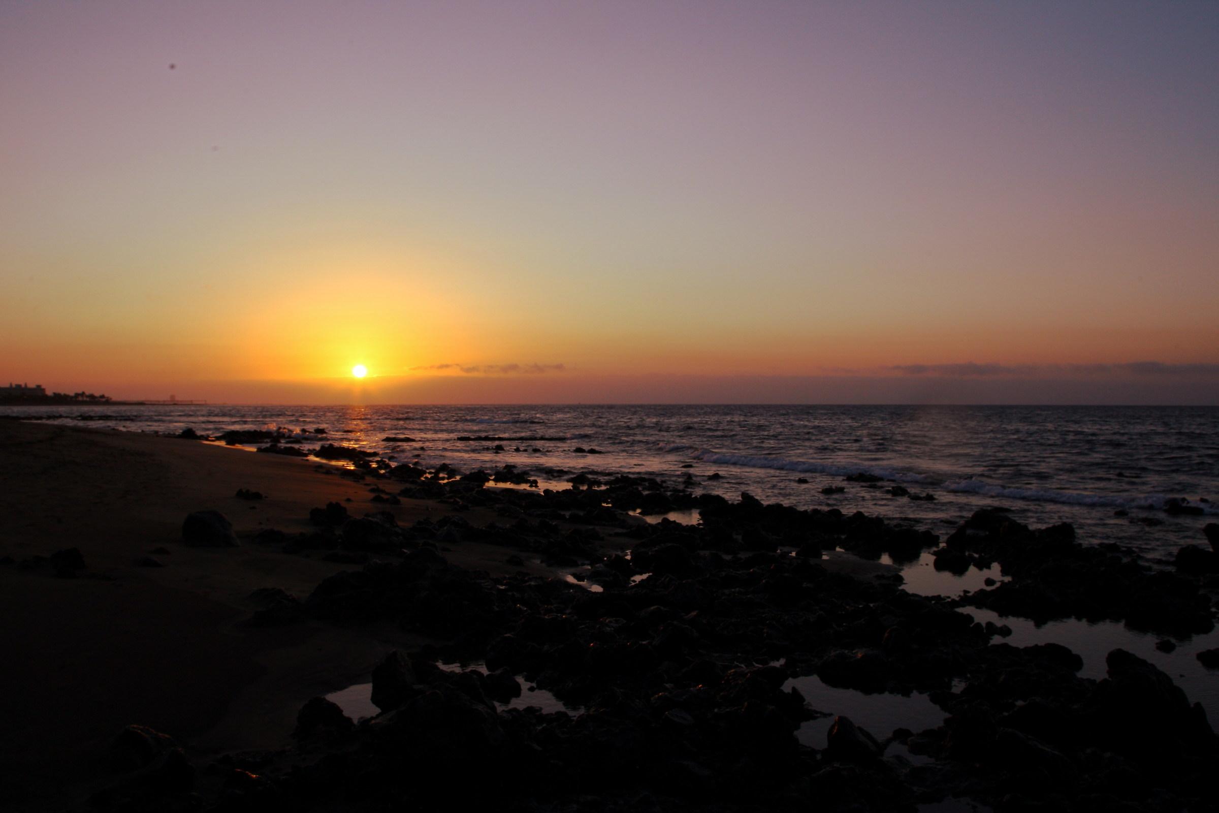 Dawn to lanzarote...