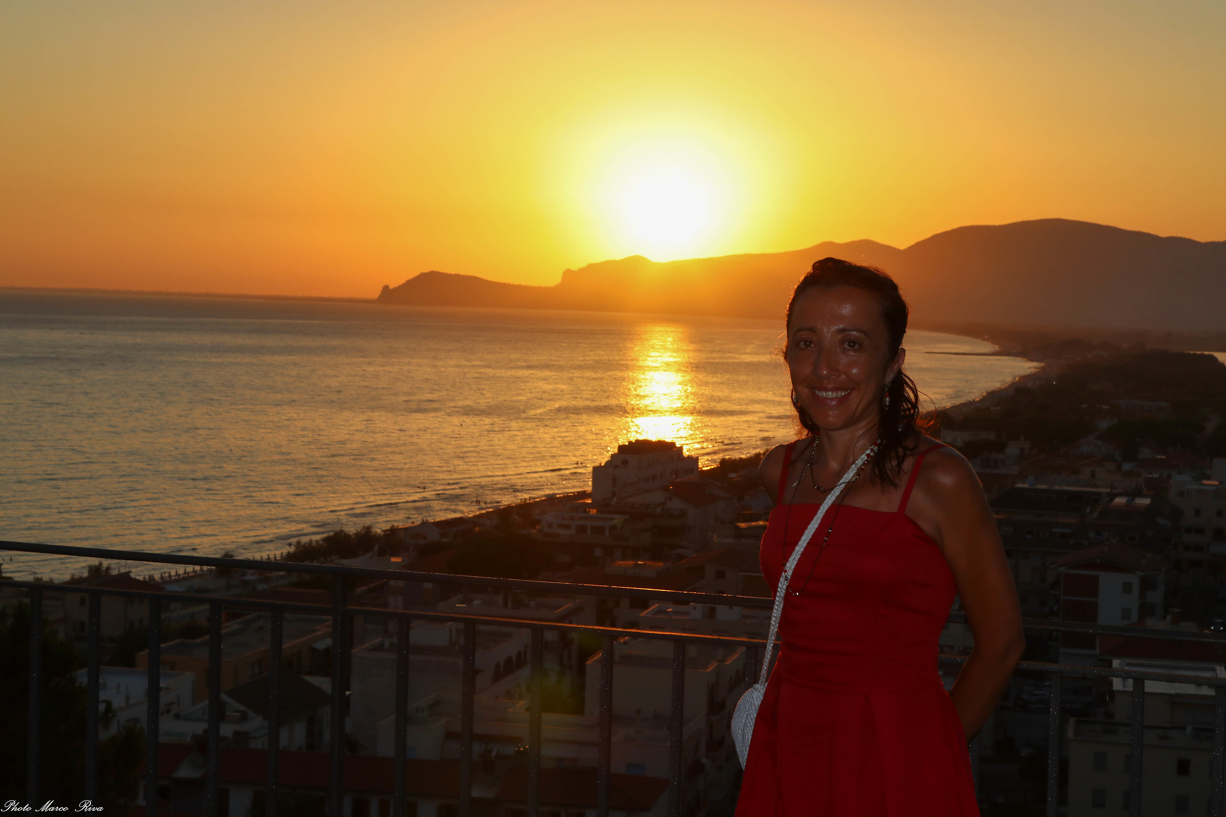 Paola and the sunset...