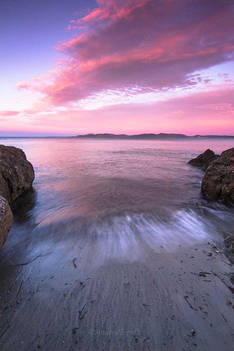Sunset at Hyeres...