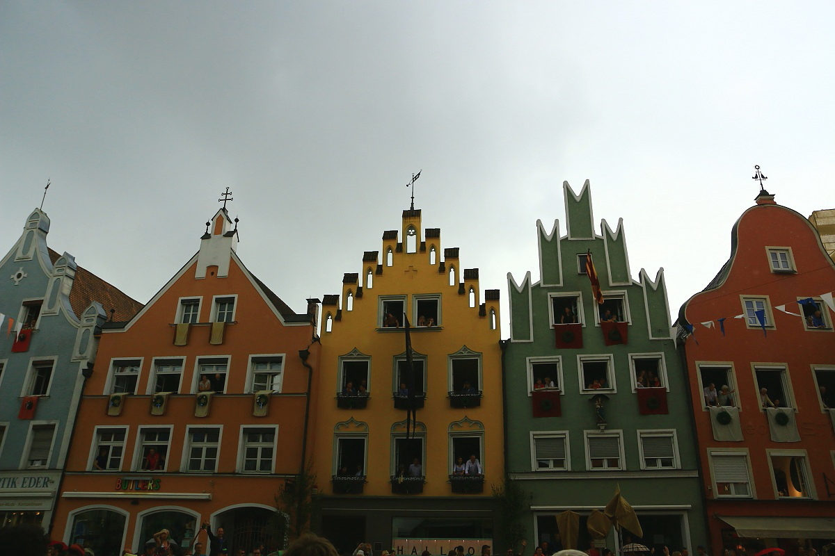 Germany typical Landshut houses...