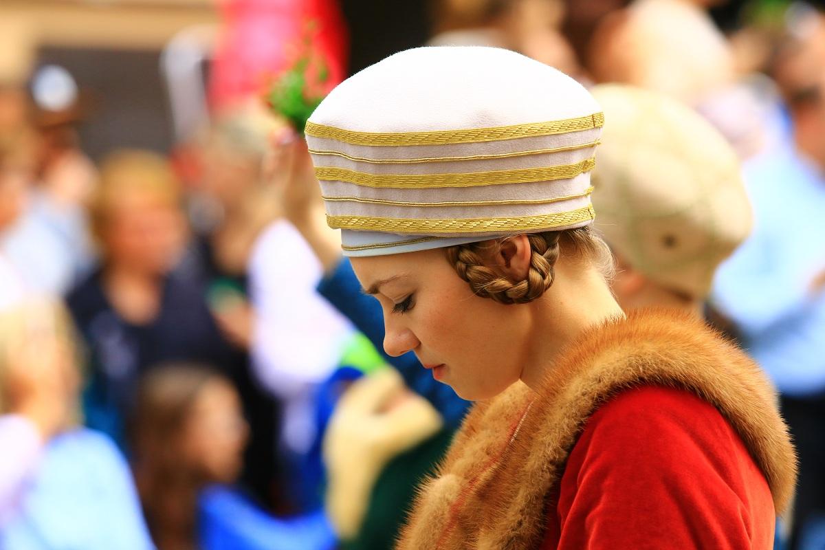 A bridesmaid of the Landshuter Hochzeit 1475...