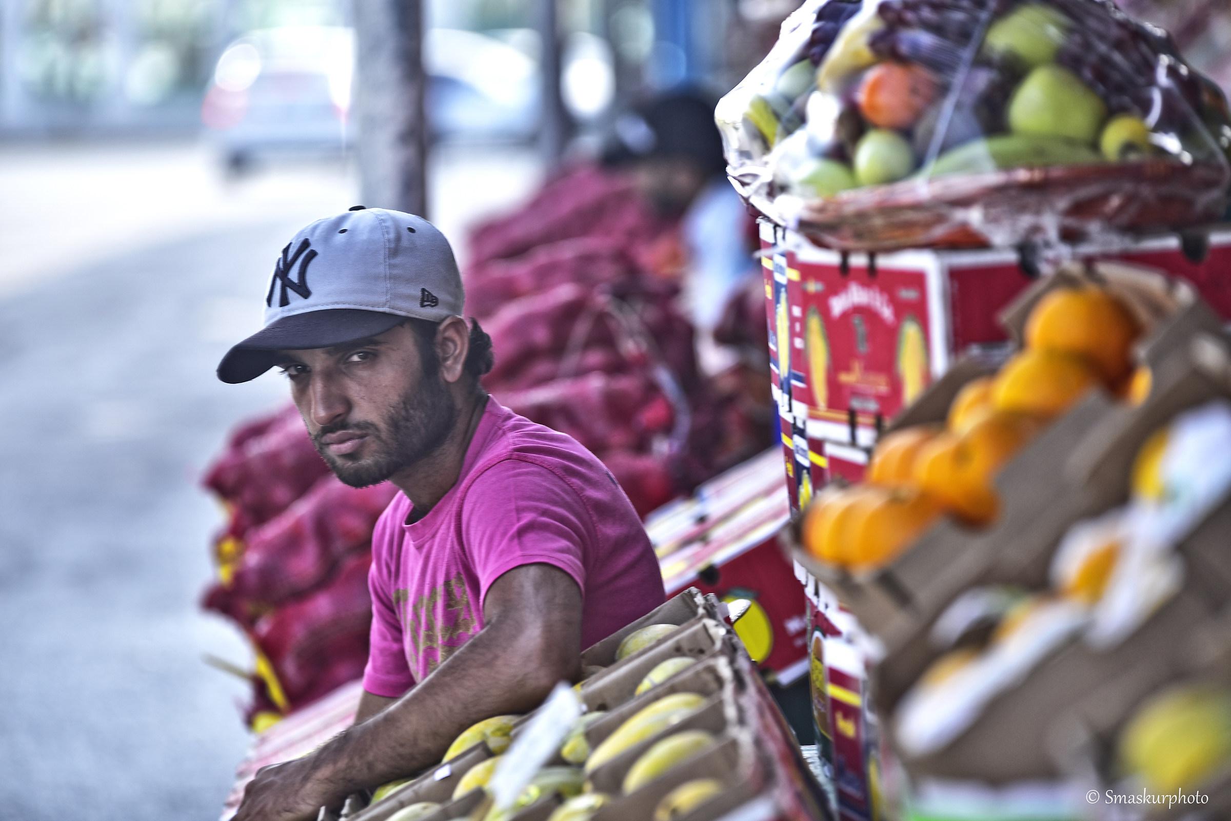 fruits seller...