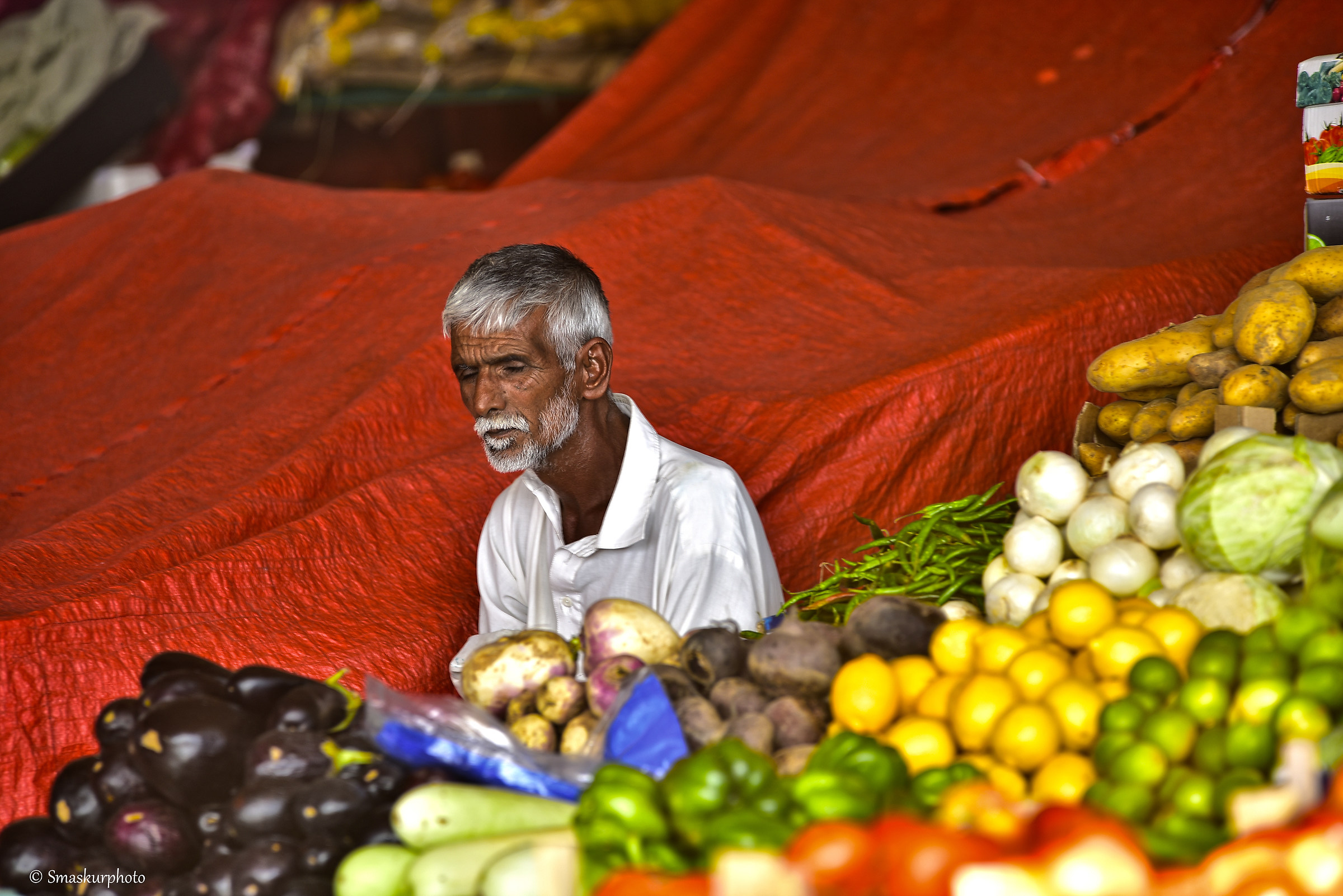 vegetables seller...