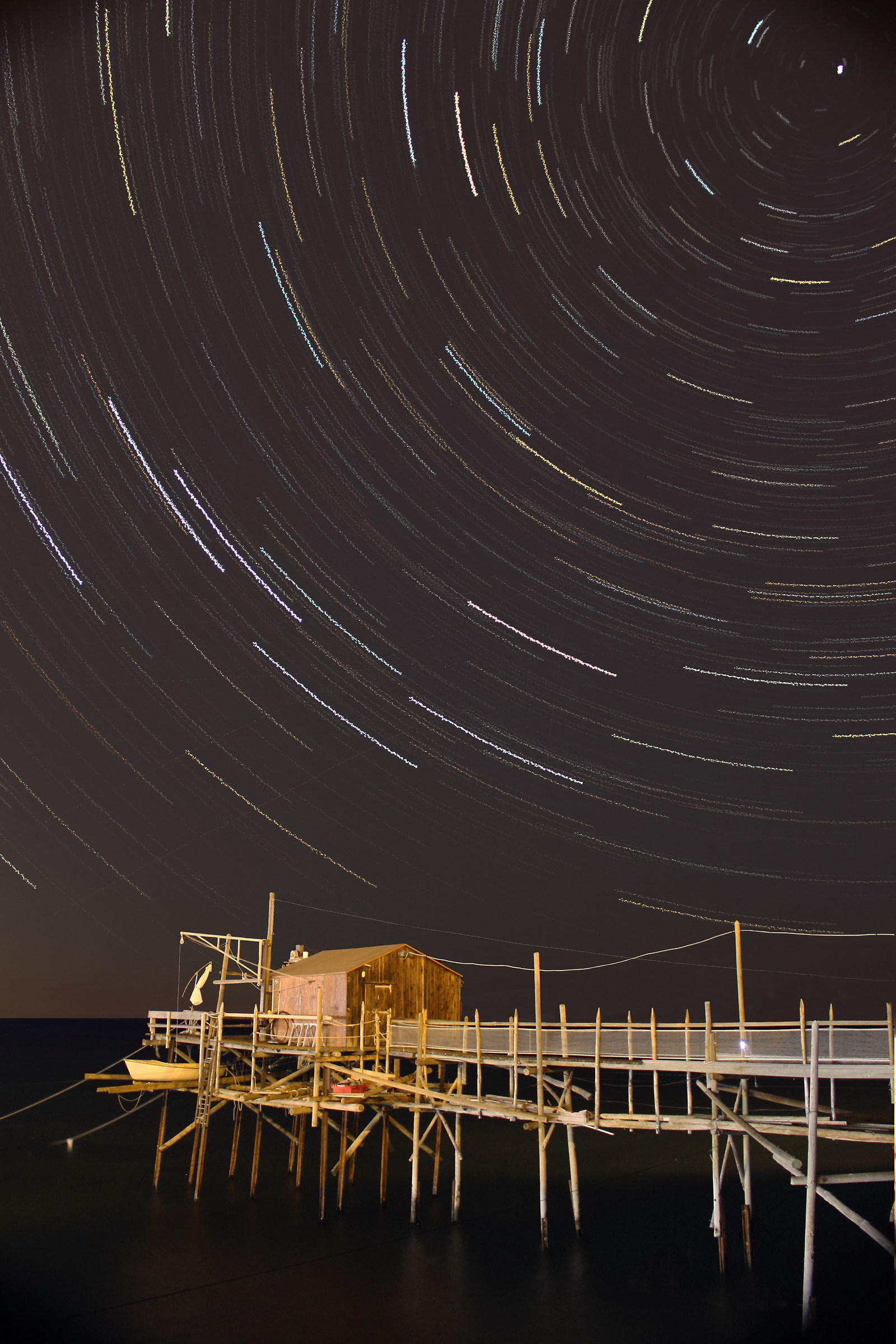 Startrail with trabot...
