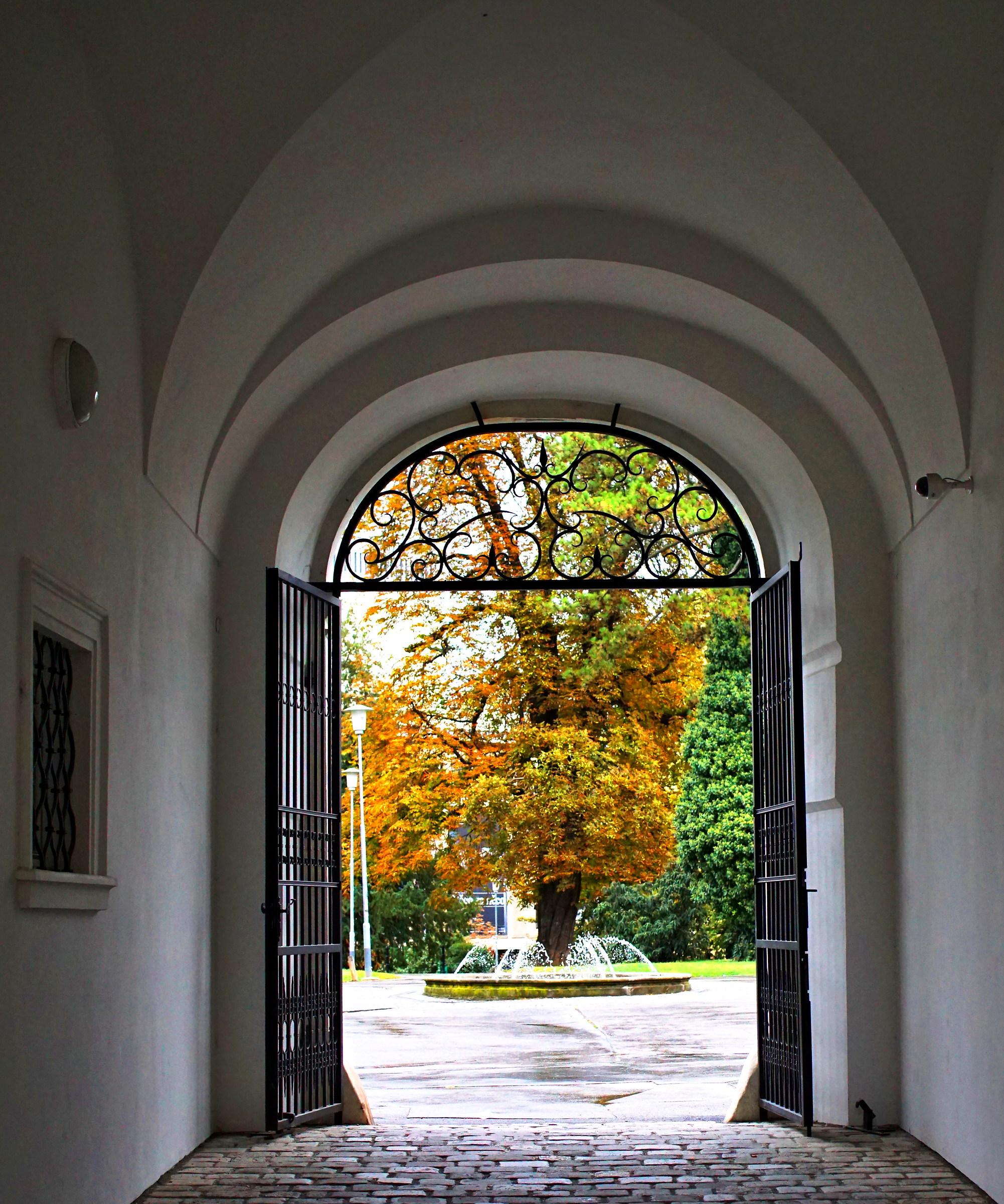 Autumn gate...