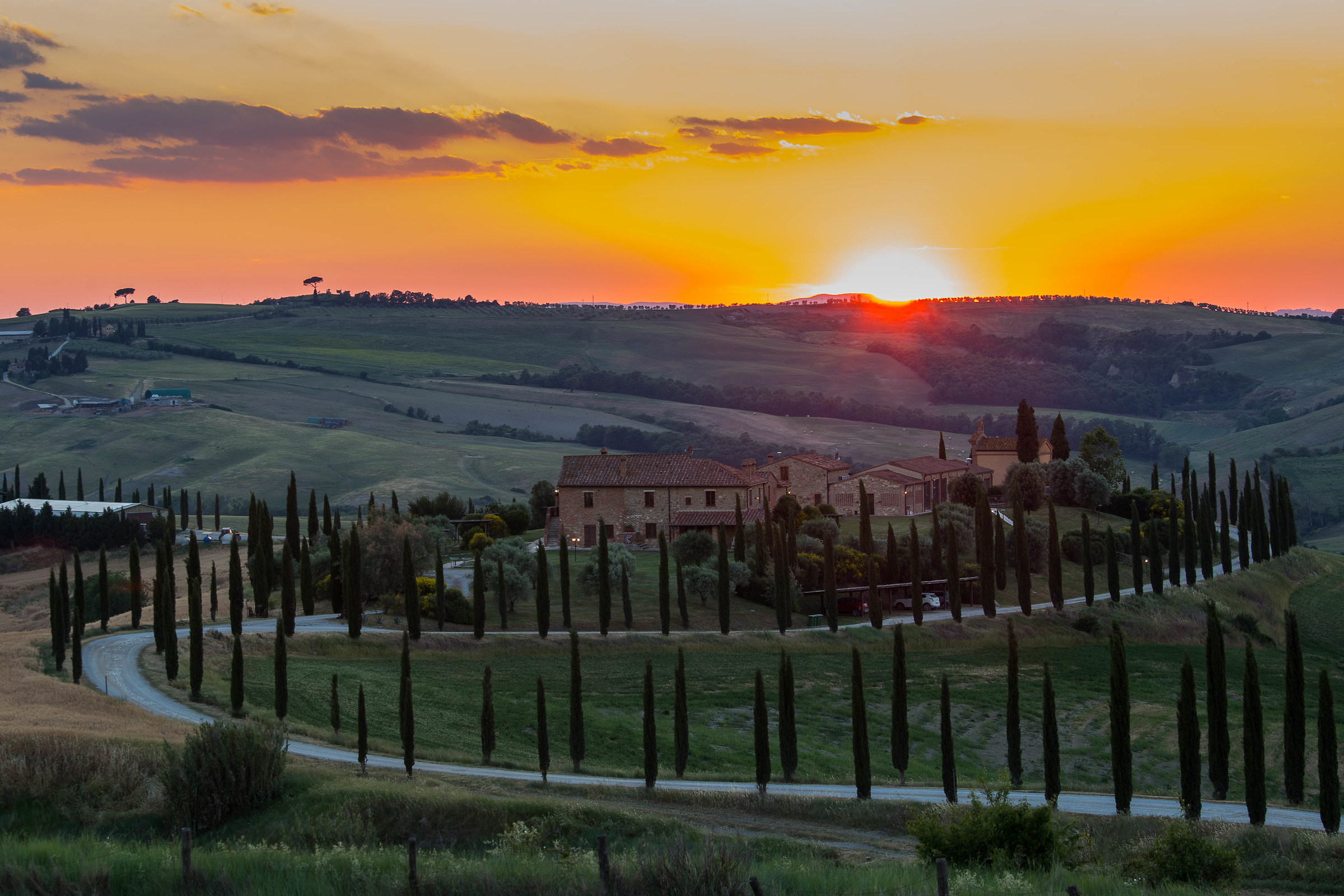 Sunset val d'Orcia test compo...