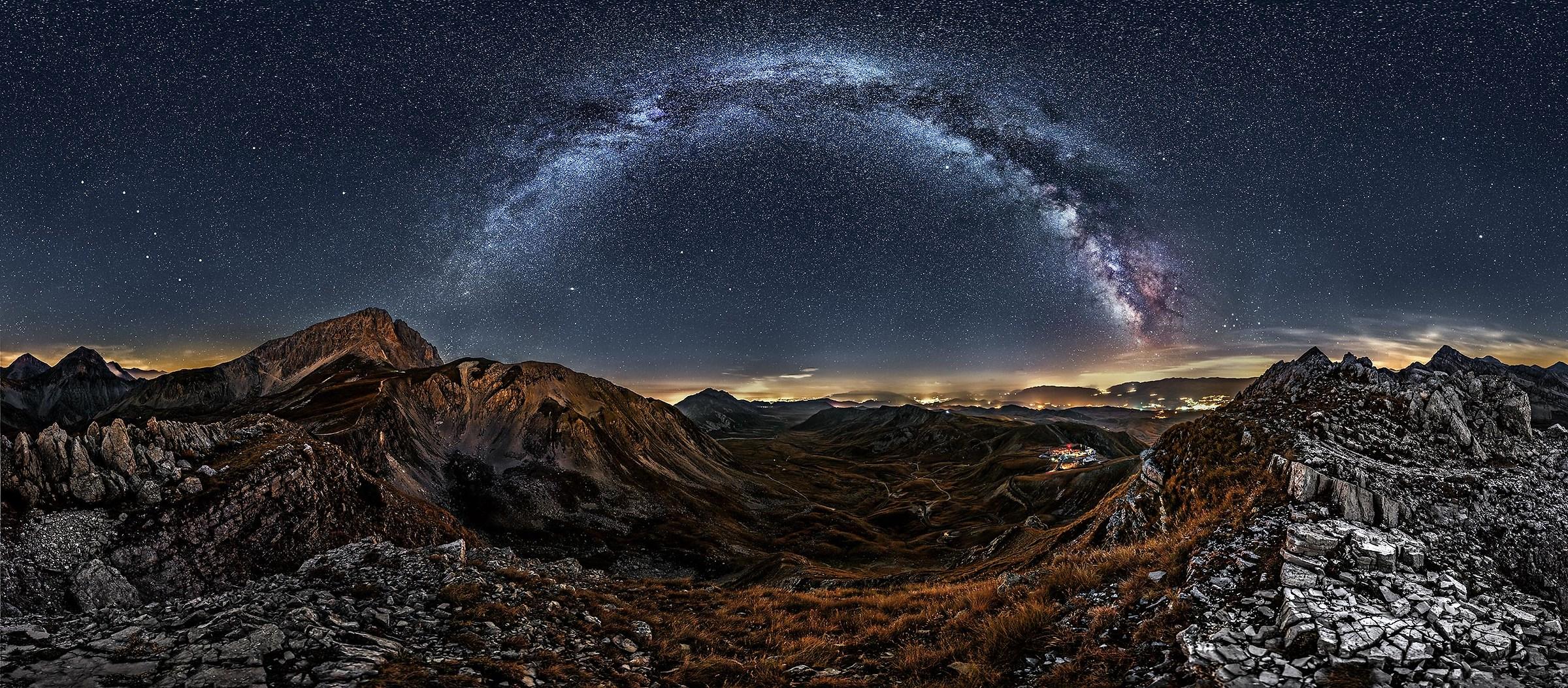 Under a sky of stars...