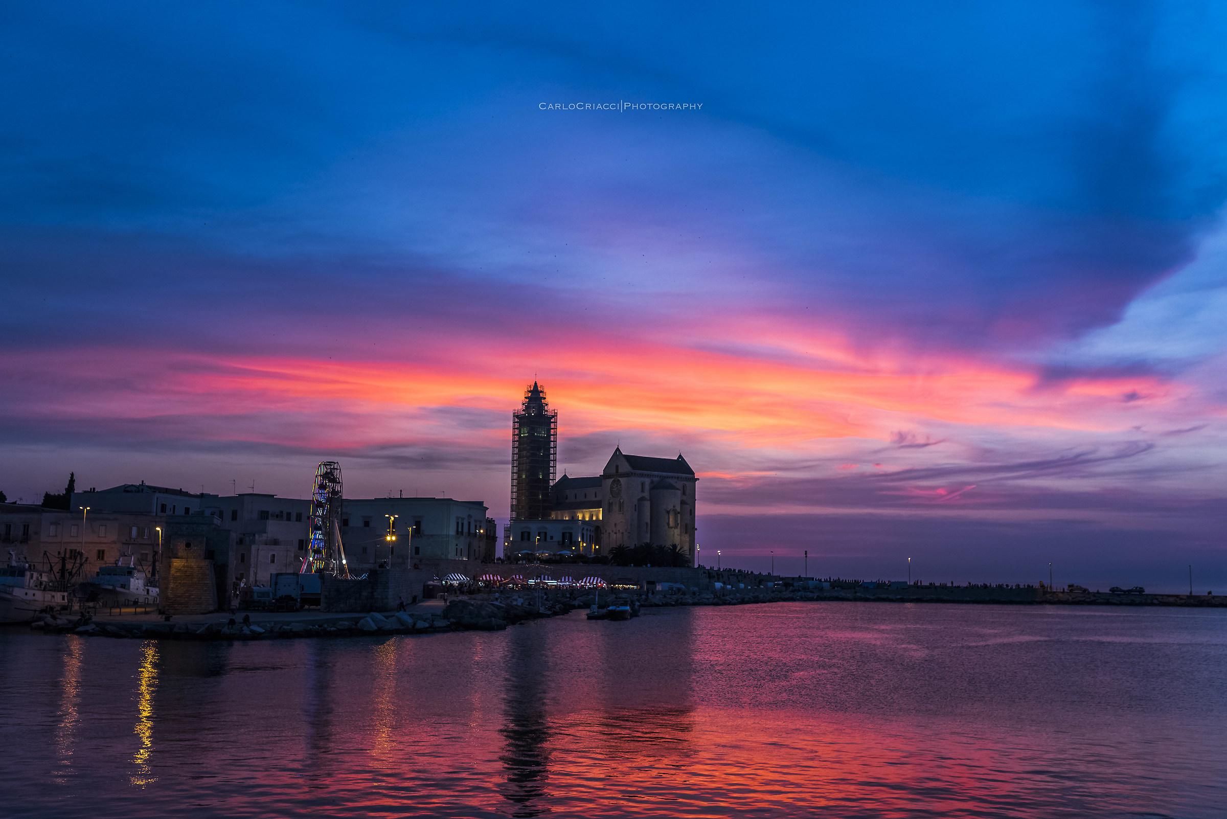 Pink sunset in trani...