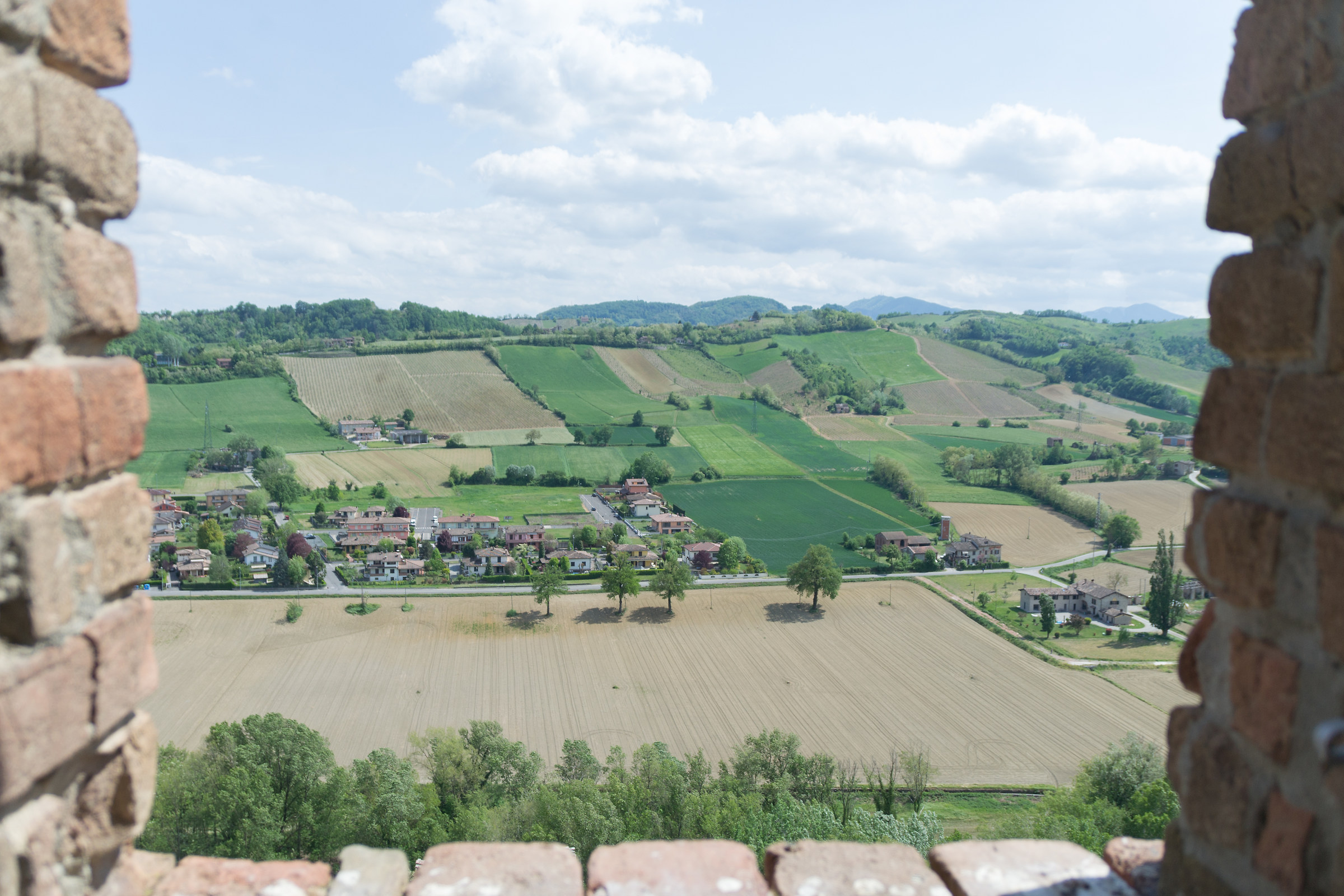 From the Tower of Castell'Arquato (pc)...