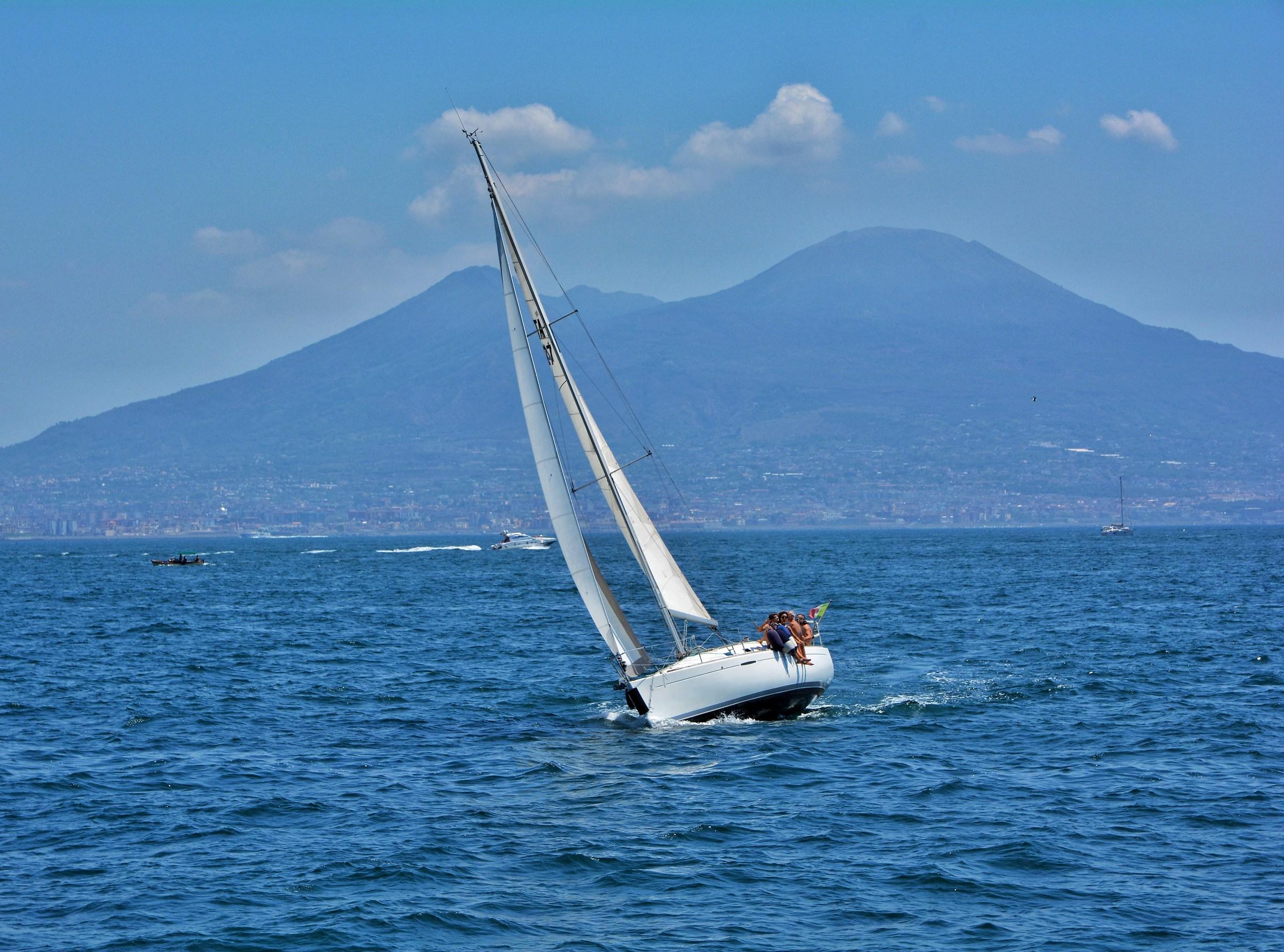 Sail at the foot of Mount Vesuvius...