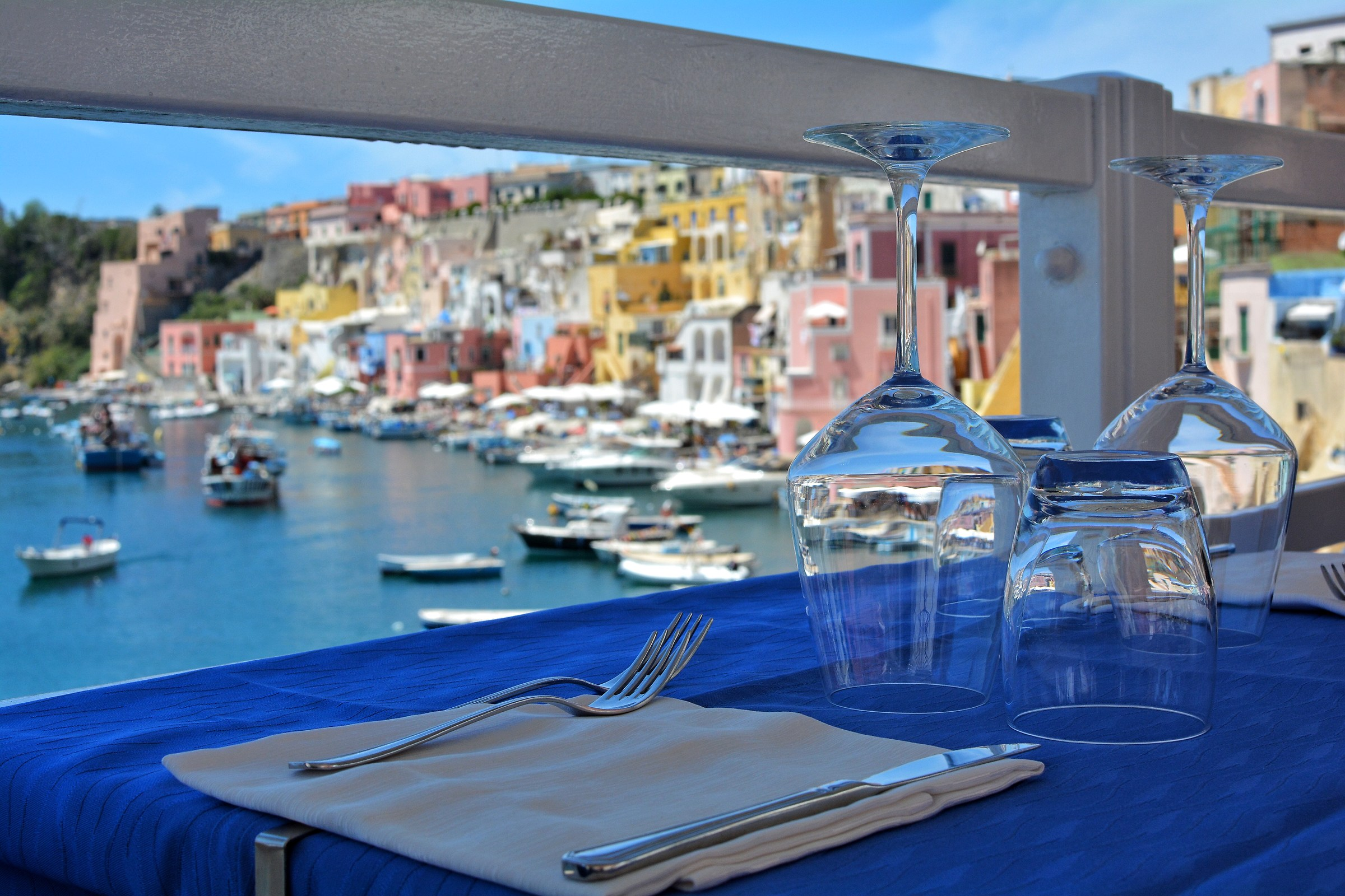 Lunch on the Corricella...