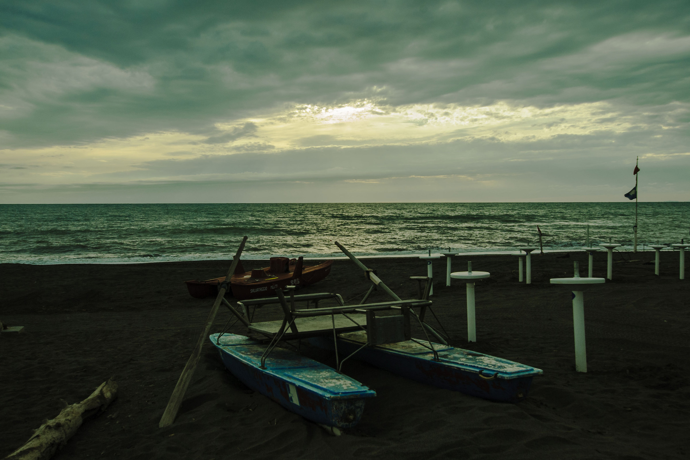Summer on a Solitary Beach...