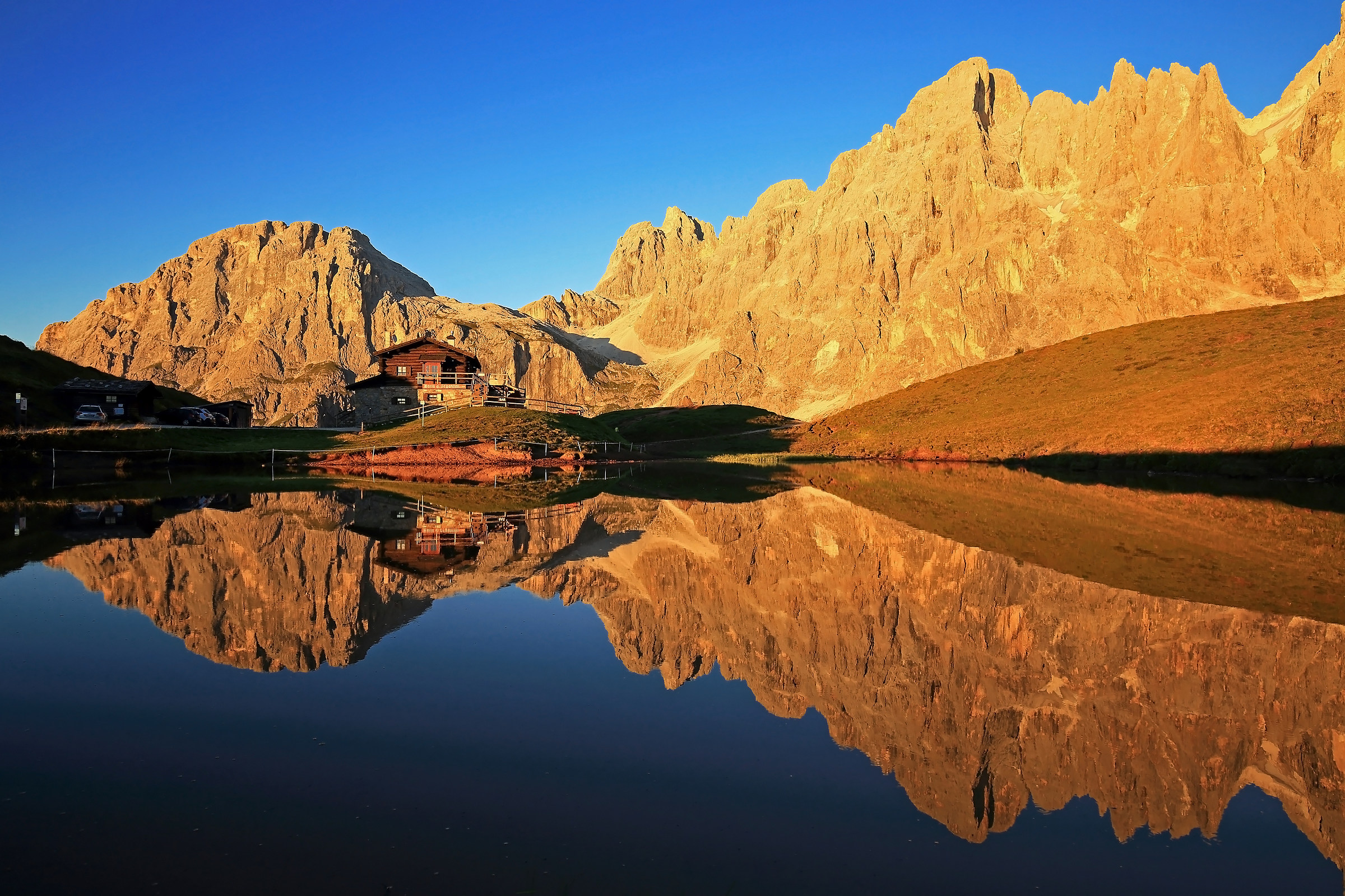 Reflections on alpine puddle....