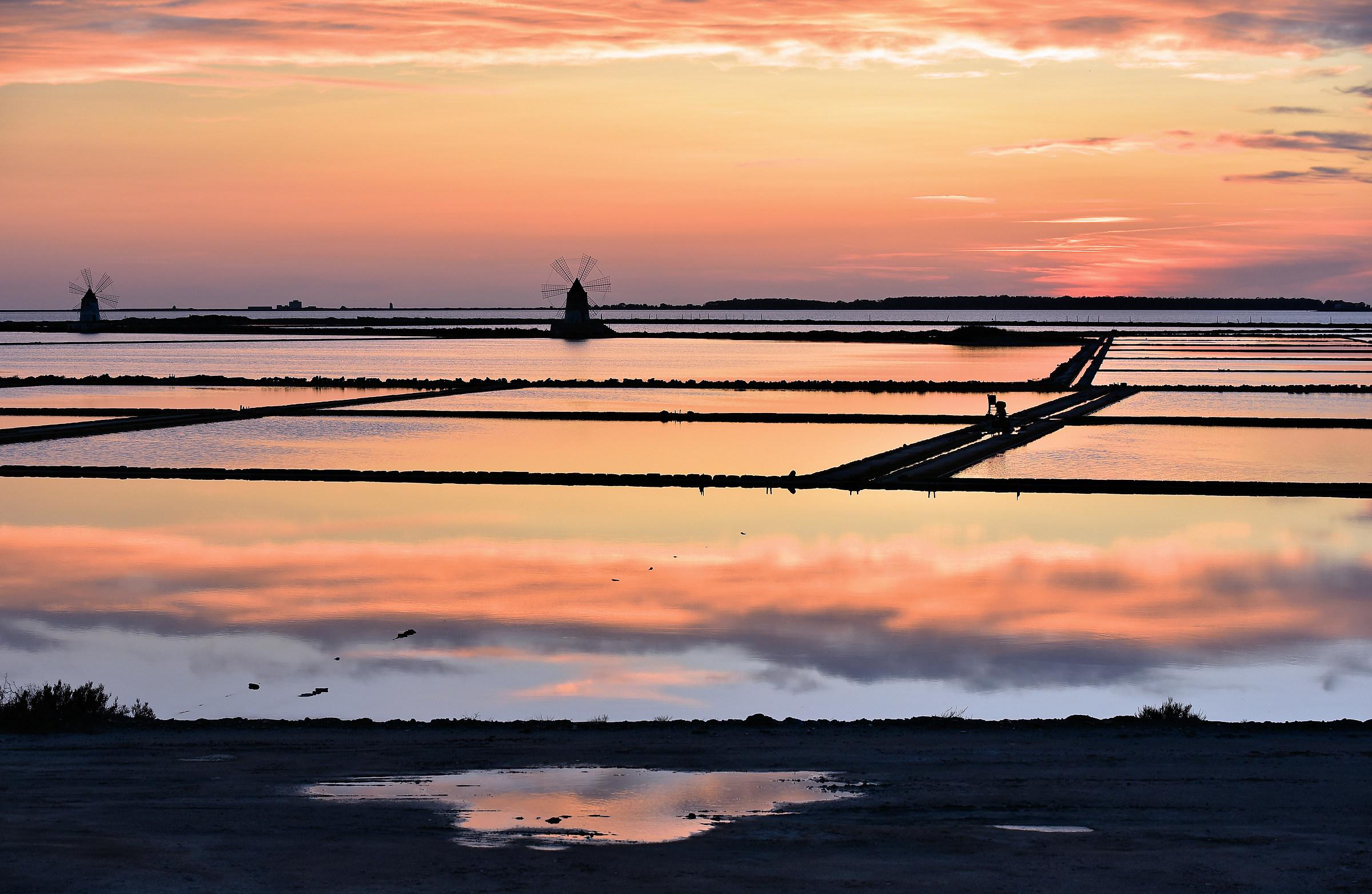 """sunset at the salt pans""..."
