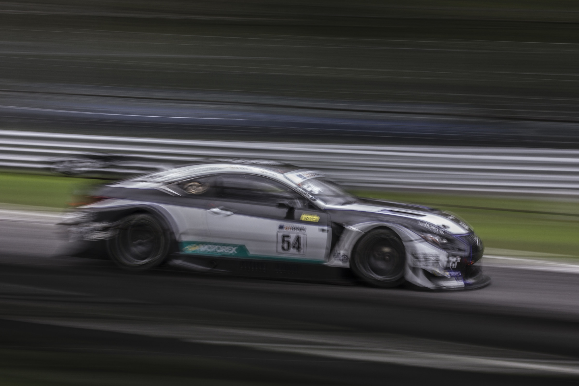 Panning to 1/5 at the Lexus RCF GT3...