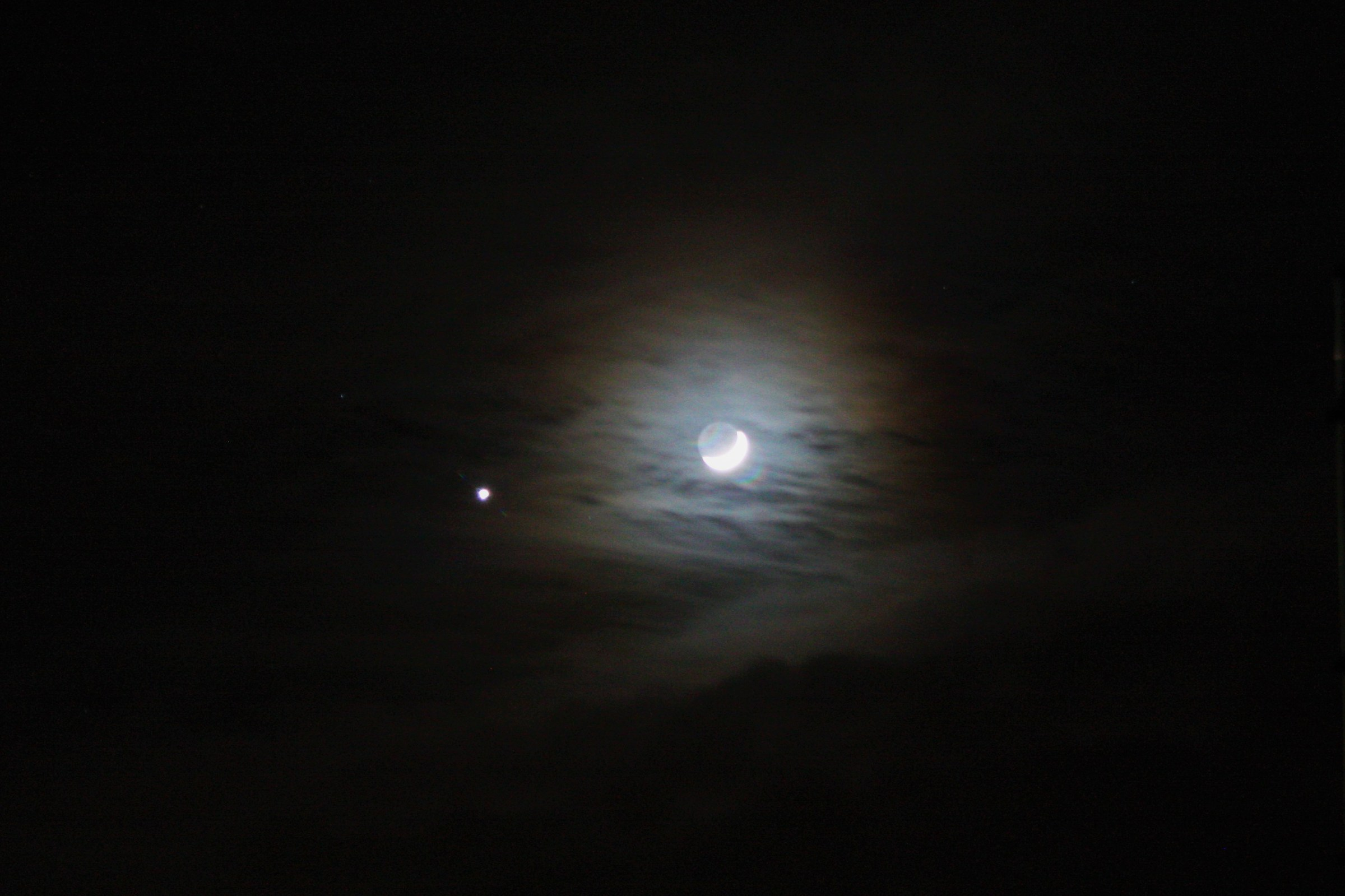 Congiunzione Luna Venere...