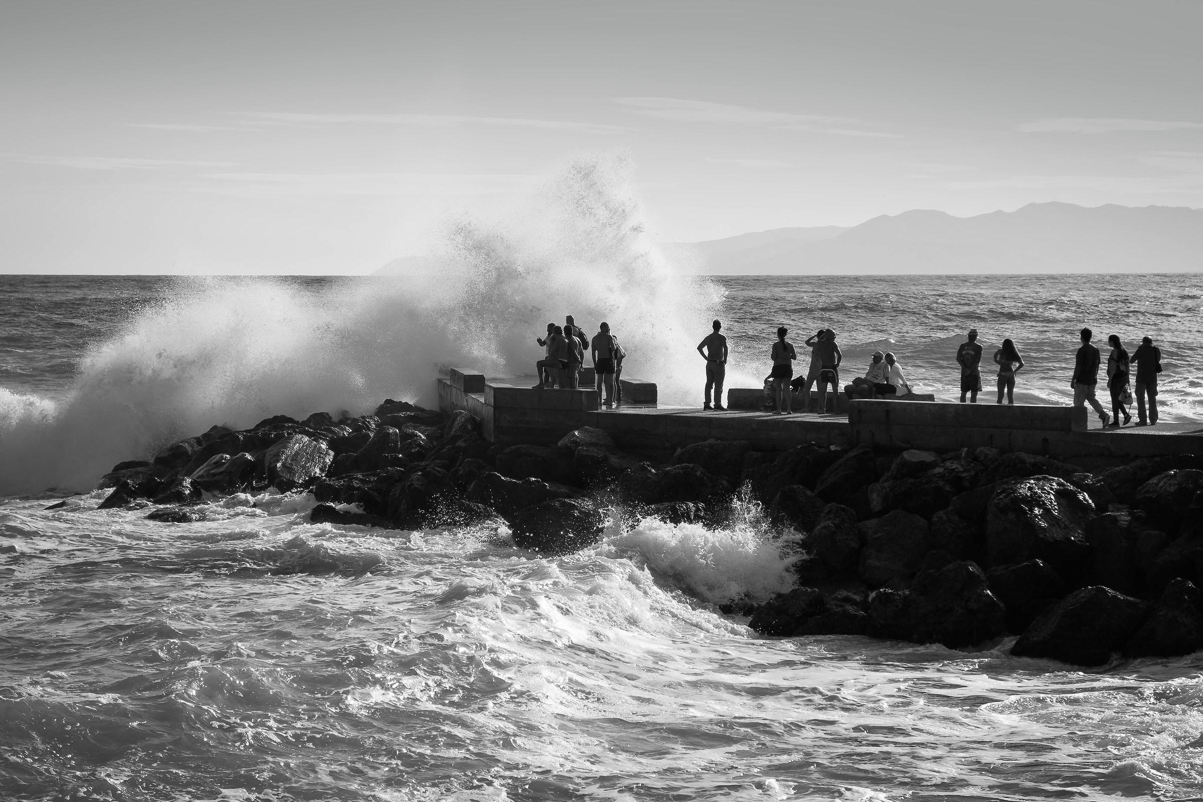 Big sea at Varigotti...