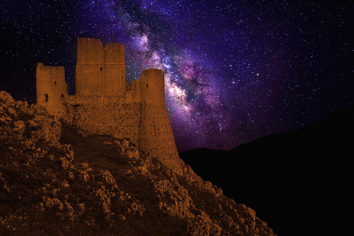 Rocca Calascio with Milky Way...