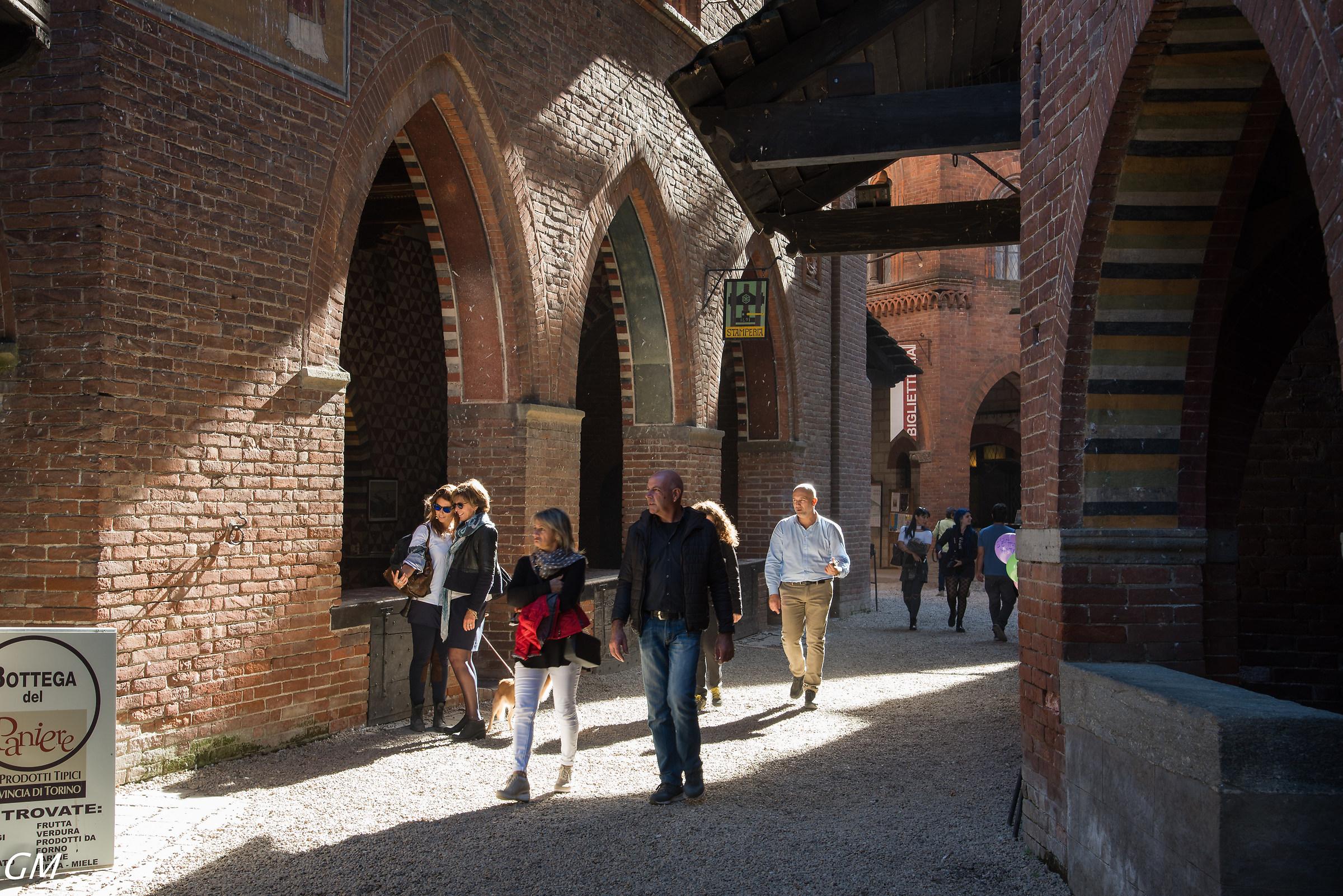 Torino Castello Medievale del parco del Valentino...