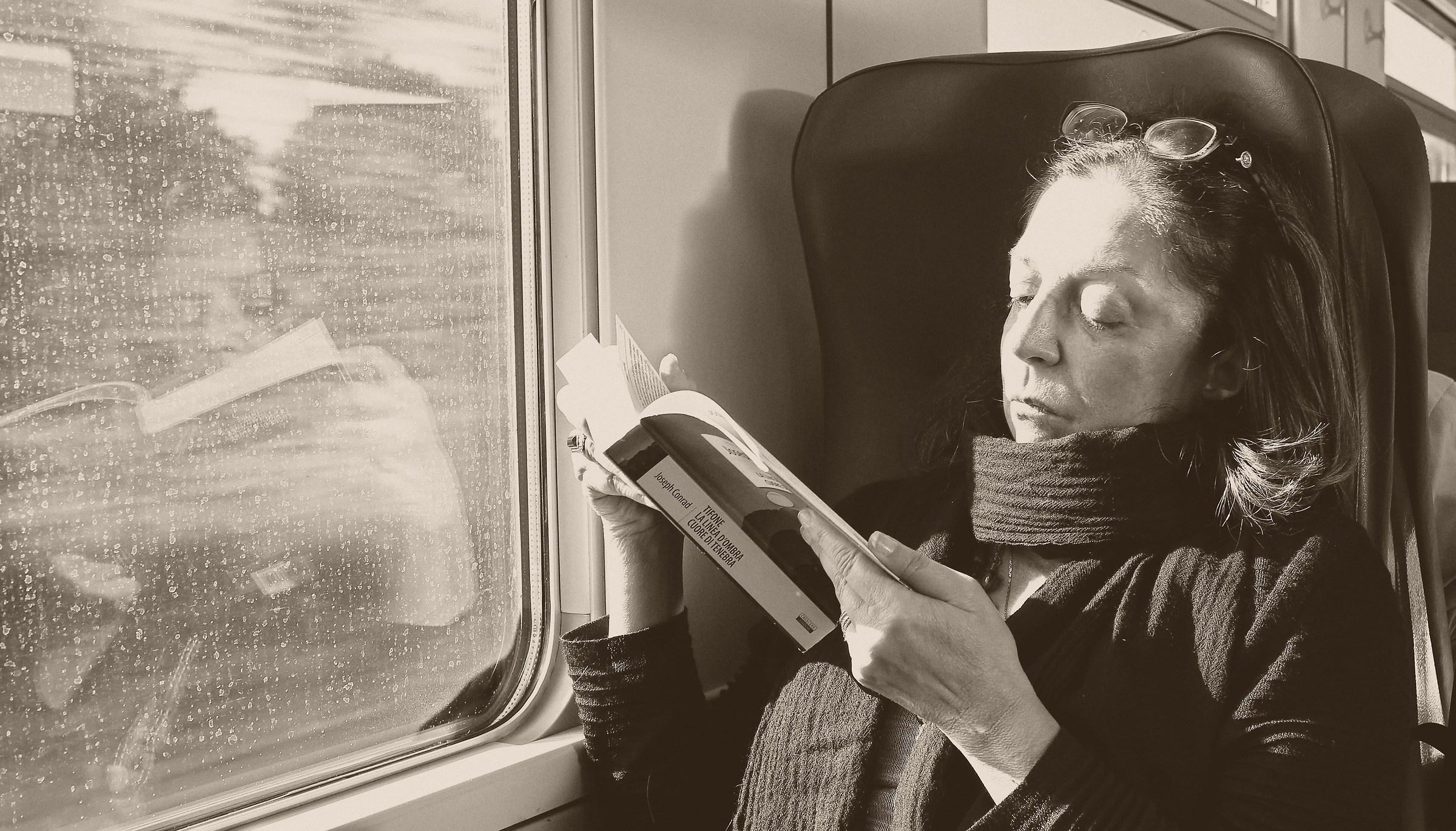 Sul treno in giornata piovosa...