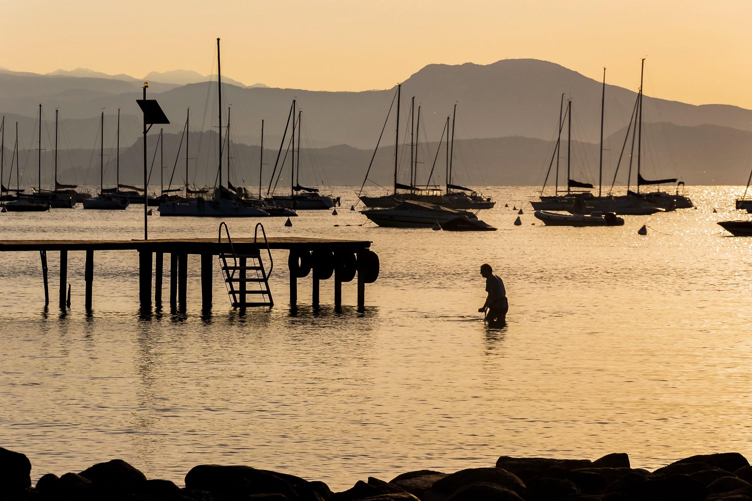 Silence. Lake Garda...