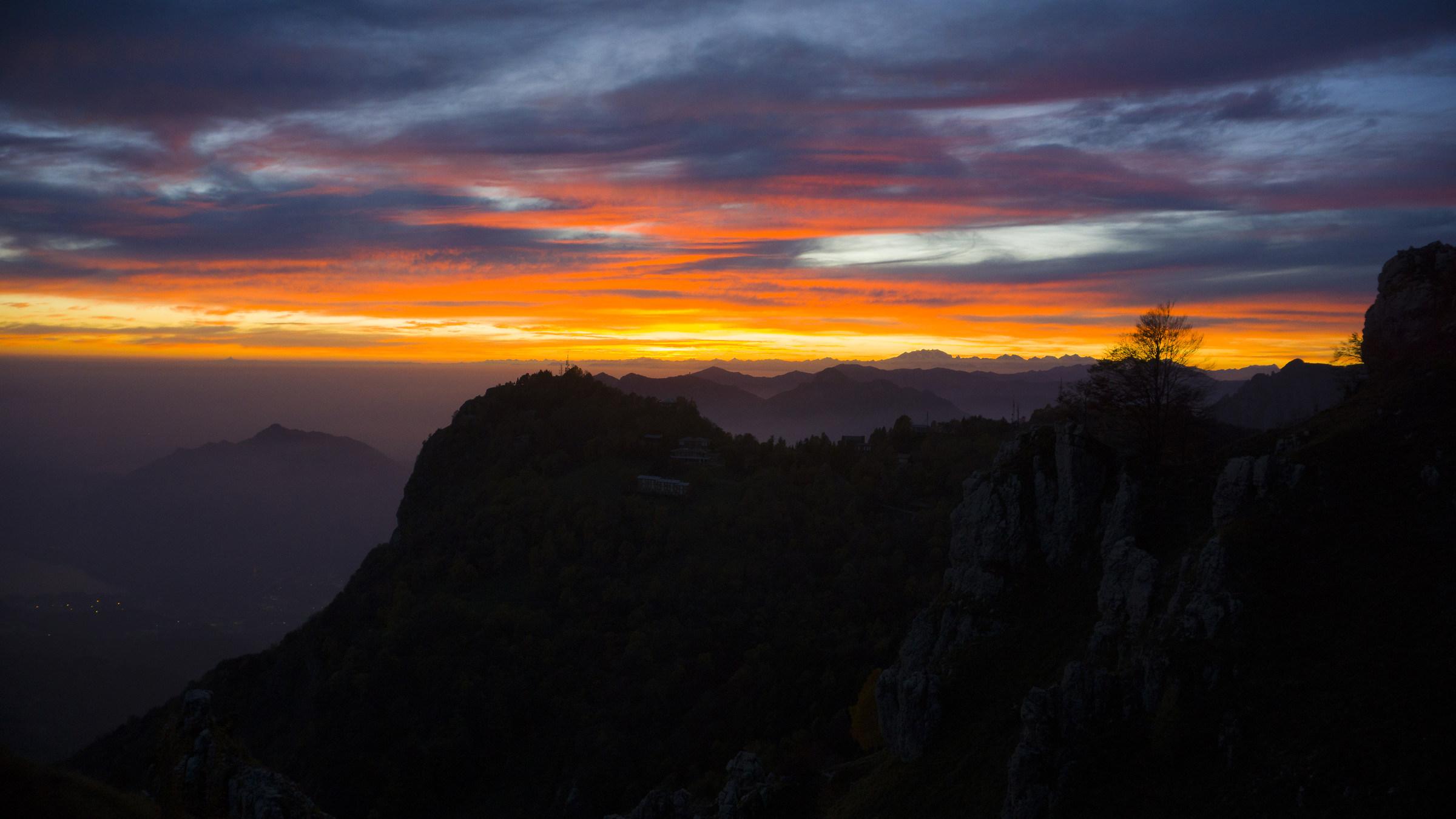 tramonto al rifugio...