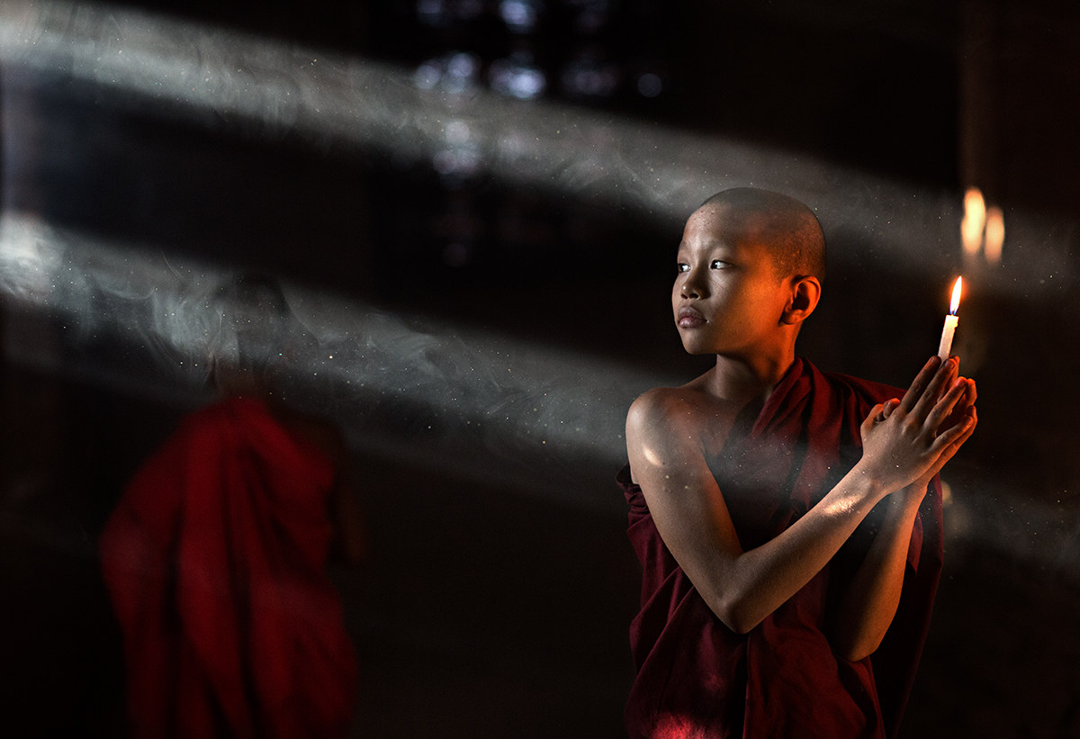 Burma, beams of light....