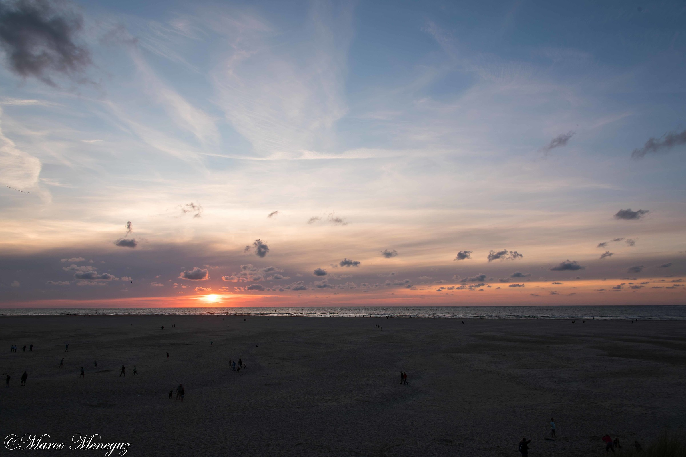 Sunset over the North Sea - Texel Island...