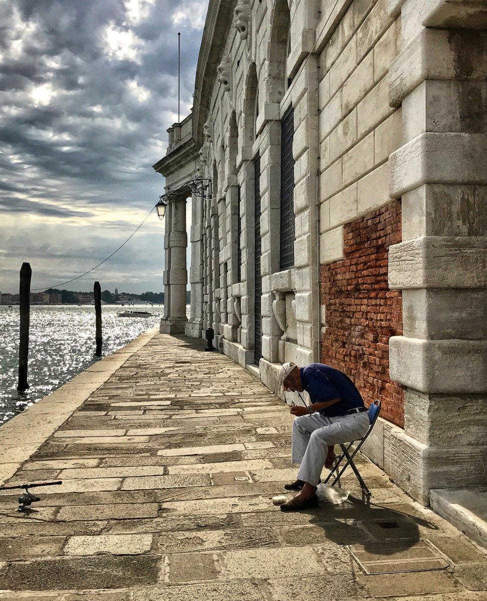 The lone fisherman...
