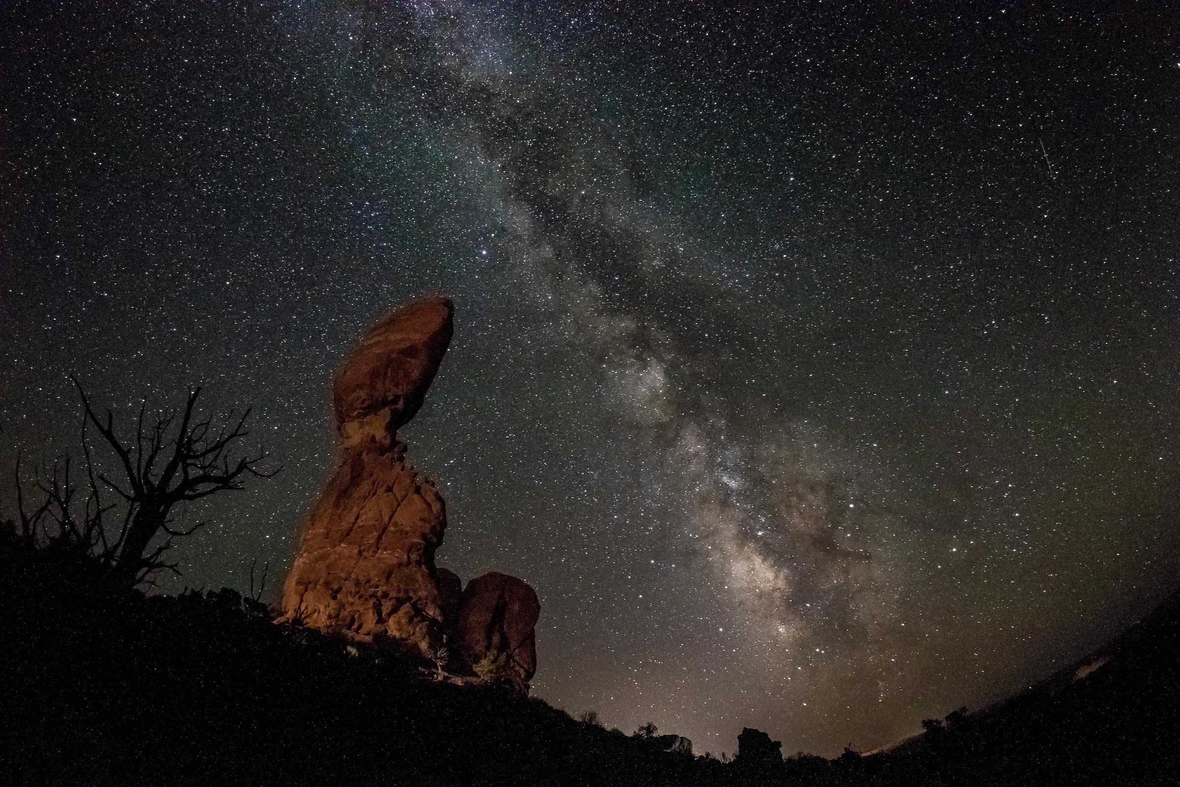 Milky Way over the Balanced Rock...