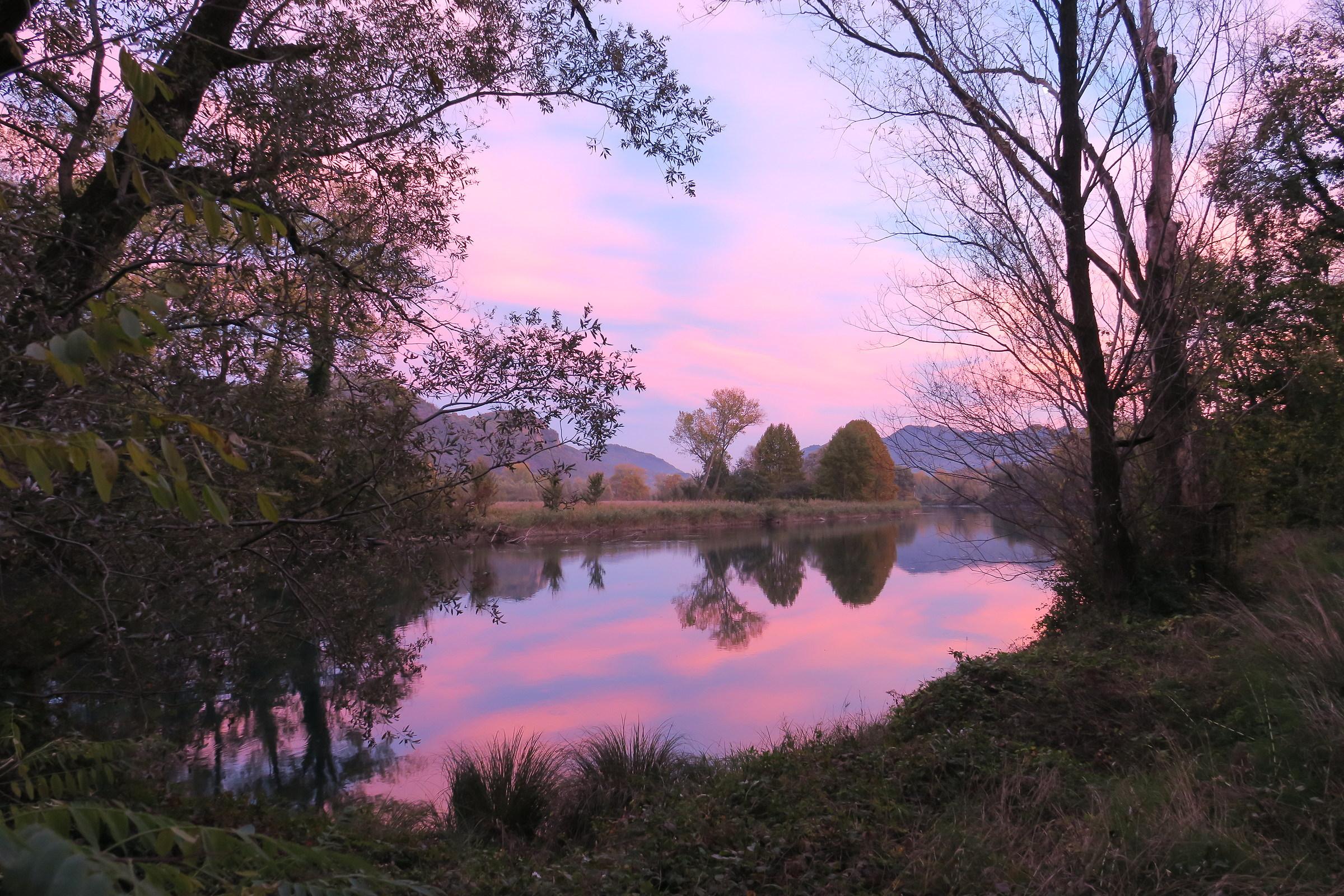 sunset along Adda 2...