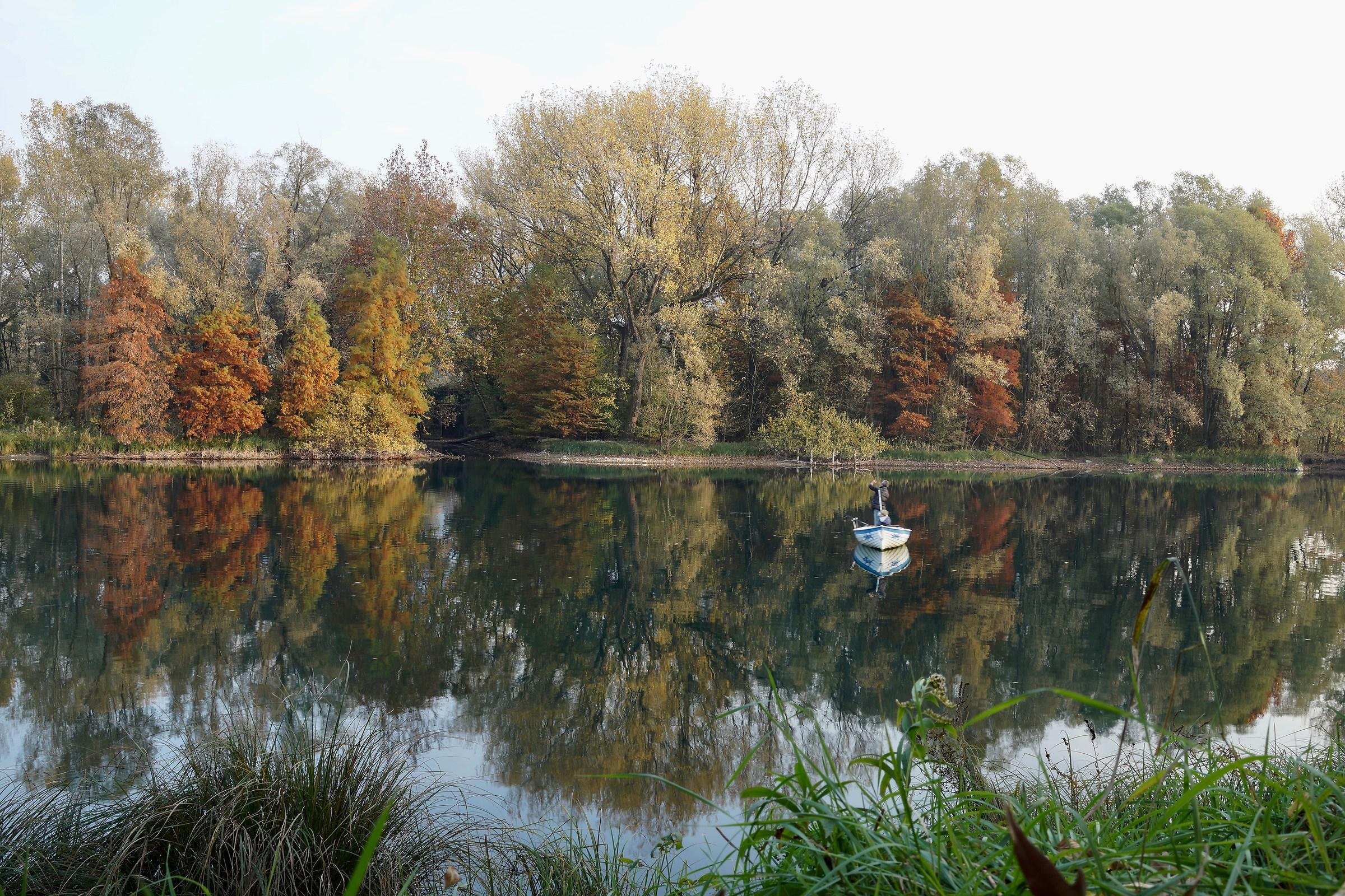 autumn fishing along the river...
