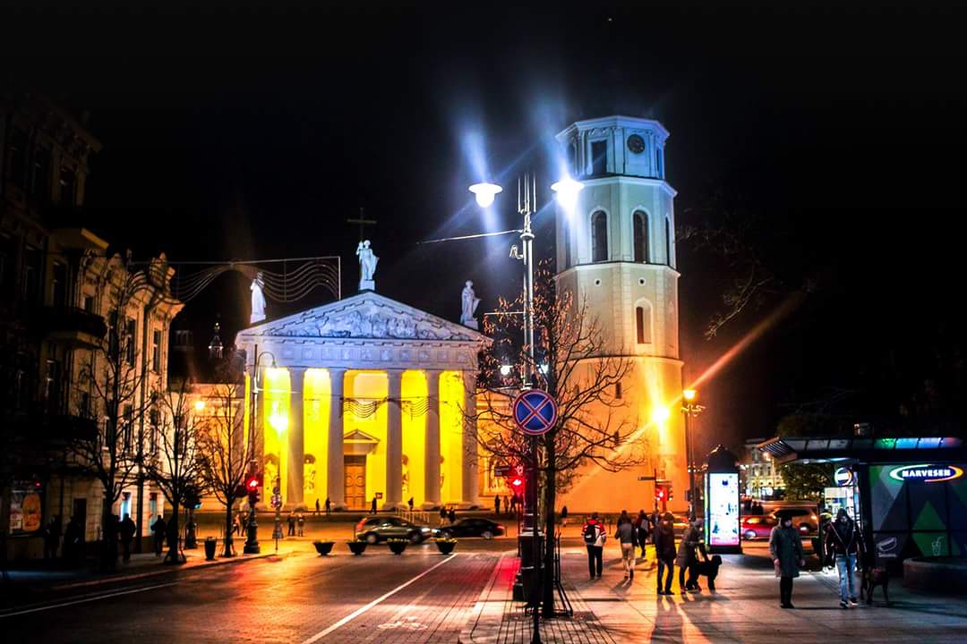 Vilnius by night Lithuania...