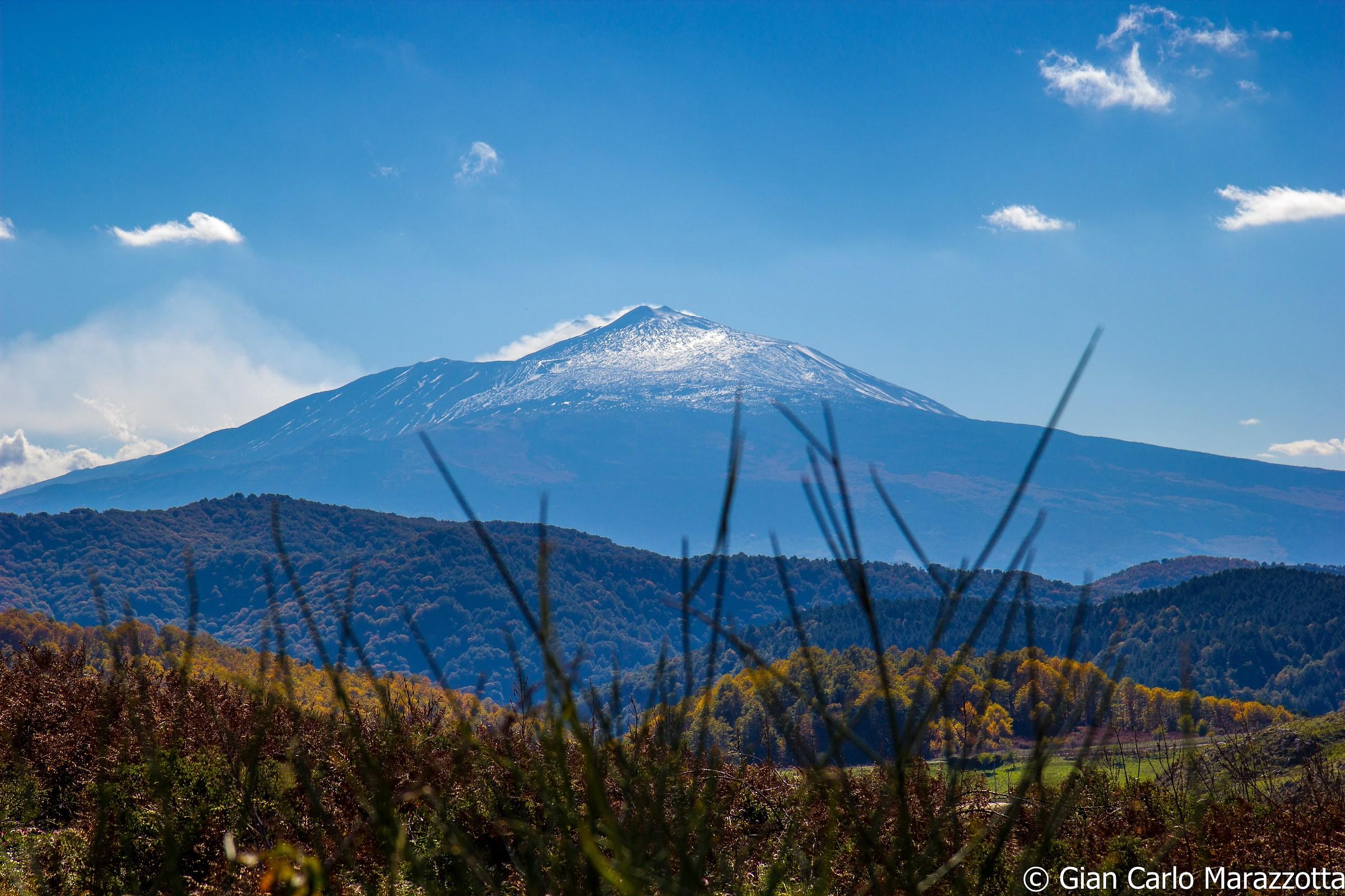 The volcano...