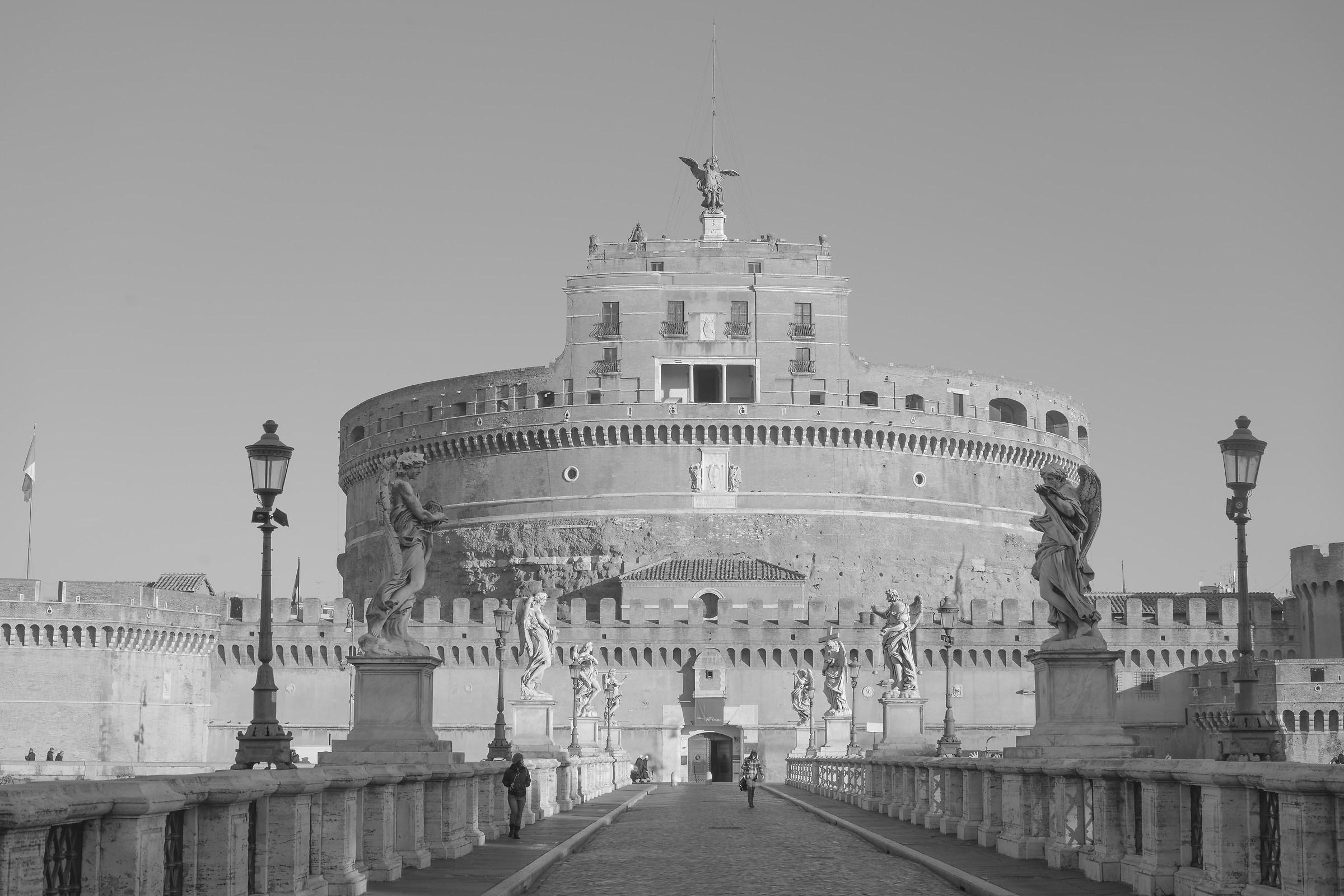 B/N su Castel Sant'Angelo...