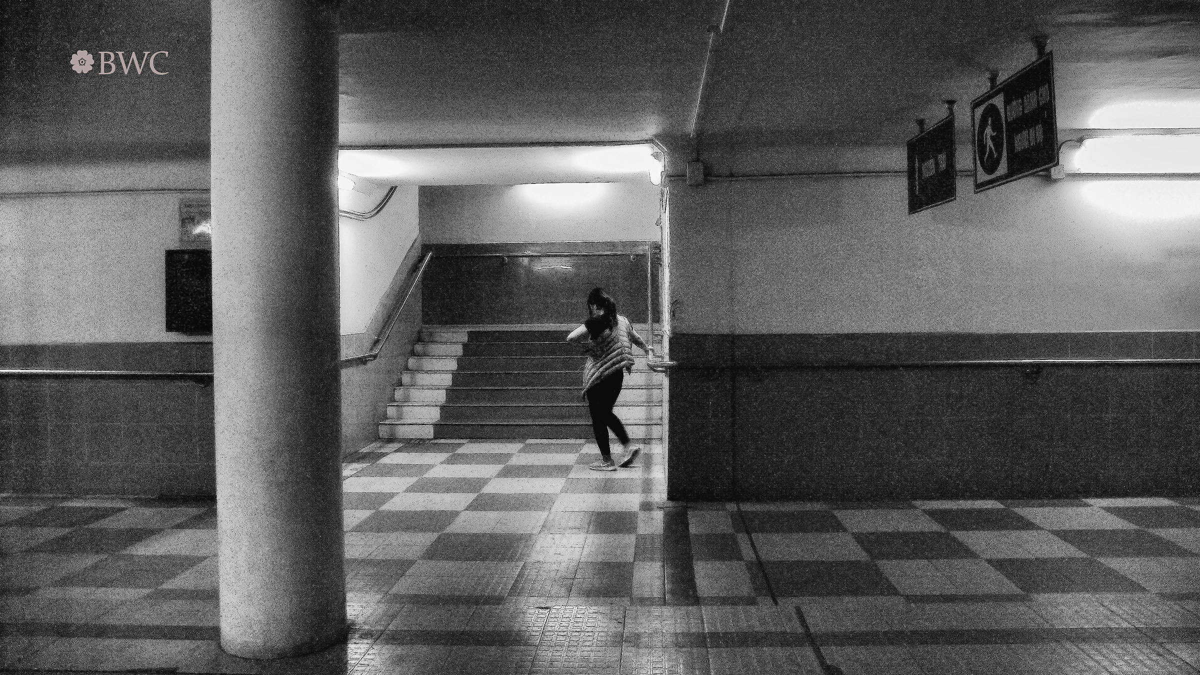 Teen Exercising To Dance Alone In The Dark Basement...