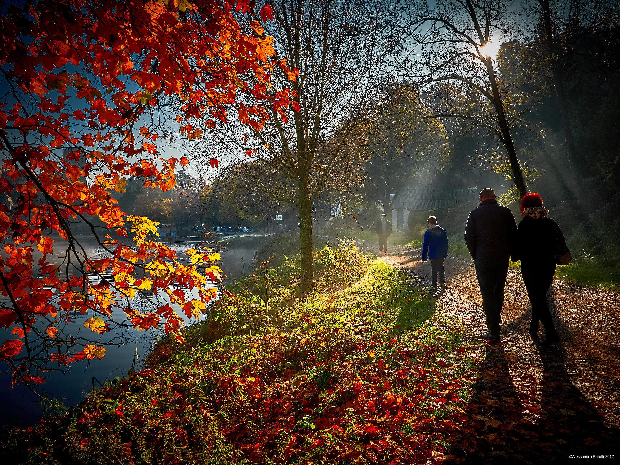 We walk...