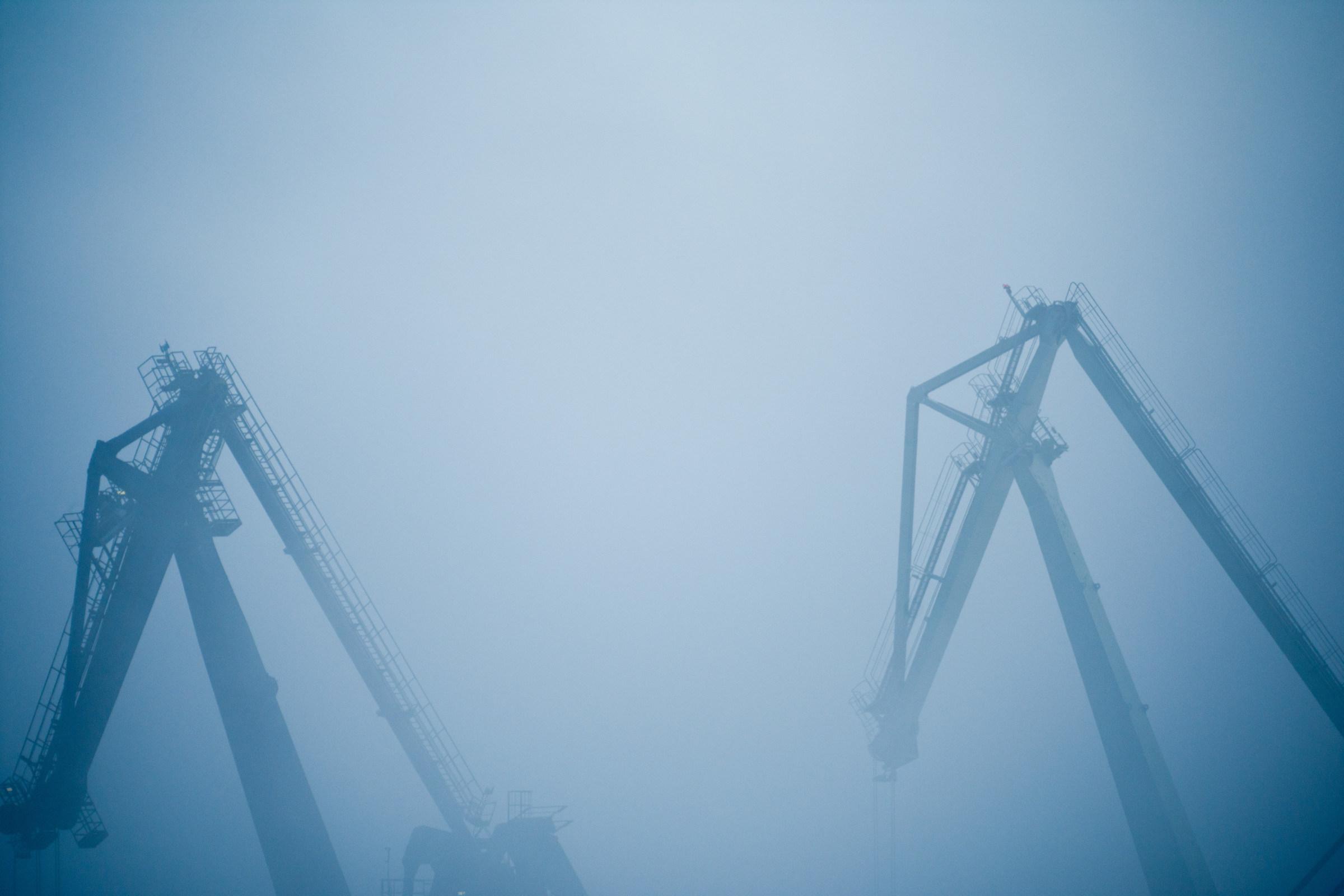 Fog on the harbor...