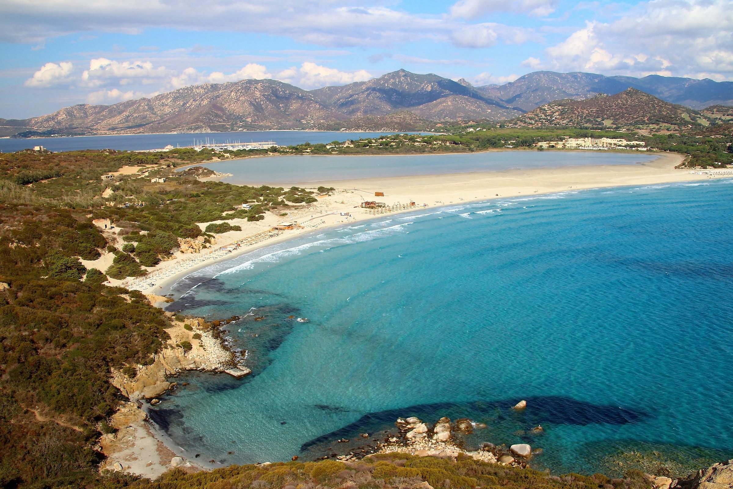 spiaggia di Porto Giunco dall'alto - Villasimius...